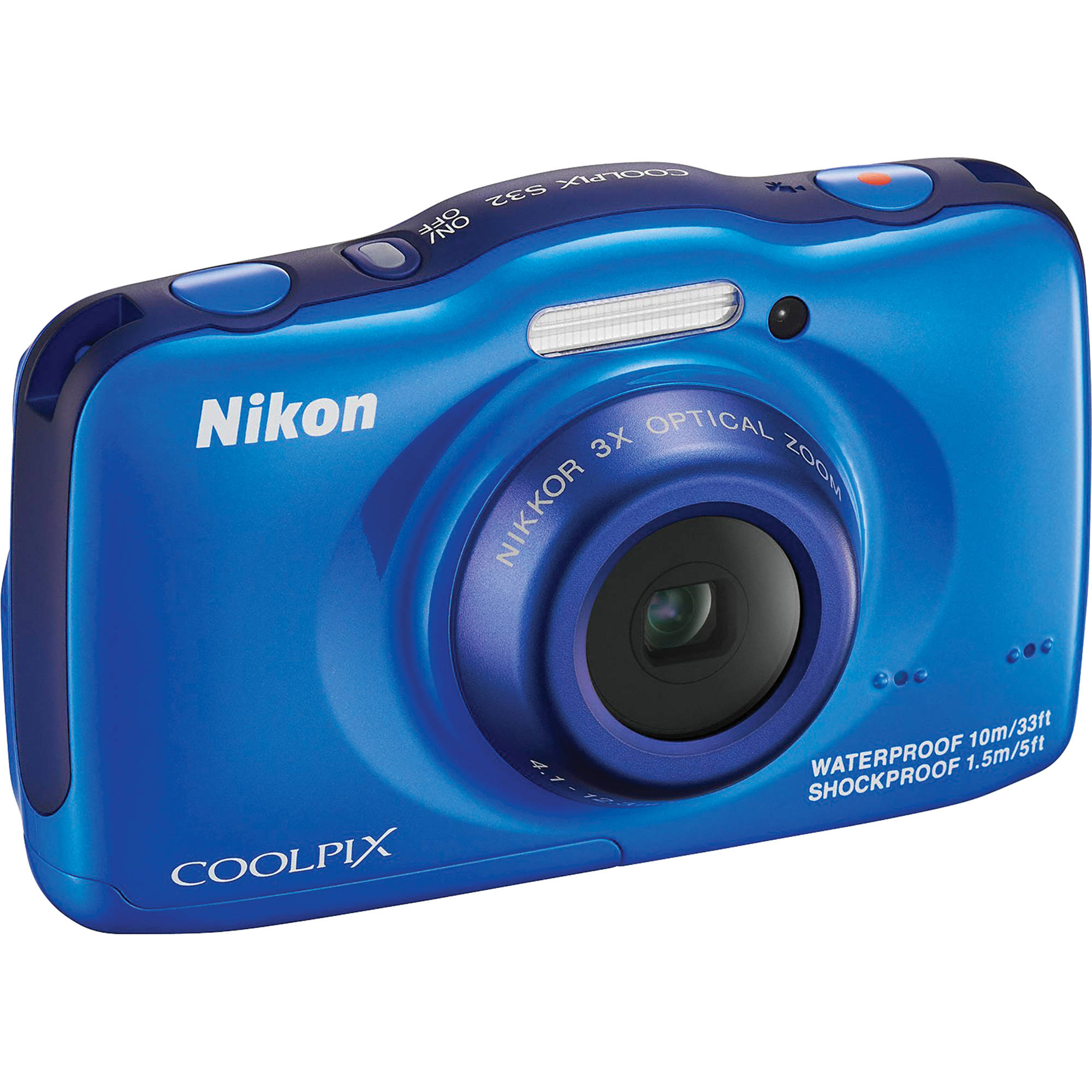 Nikon COOLPIX S32 Digital Camera (Blue) 26461 B&H Photo Video