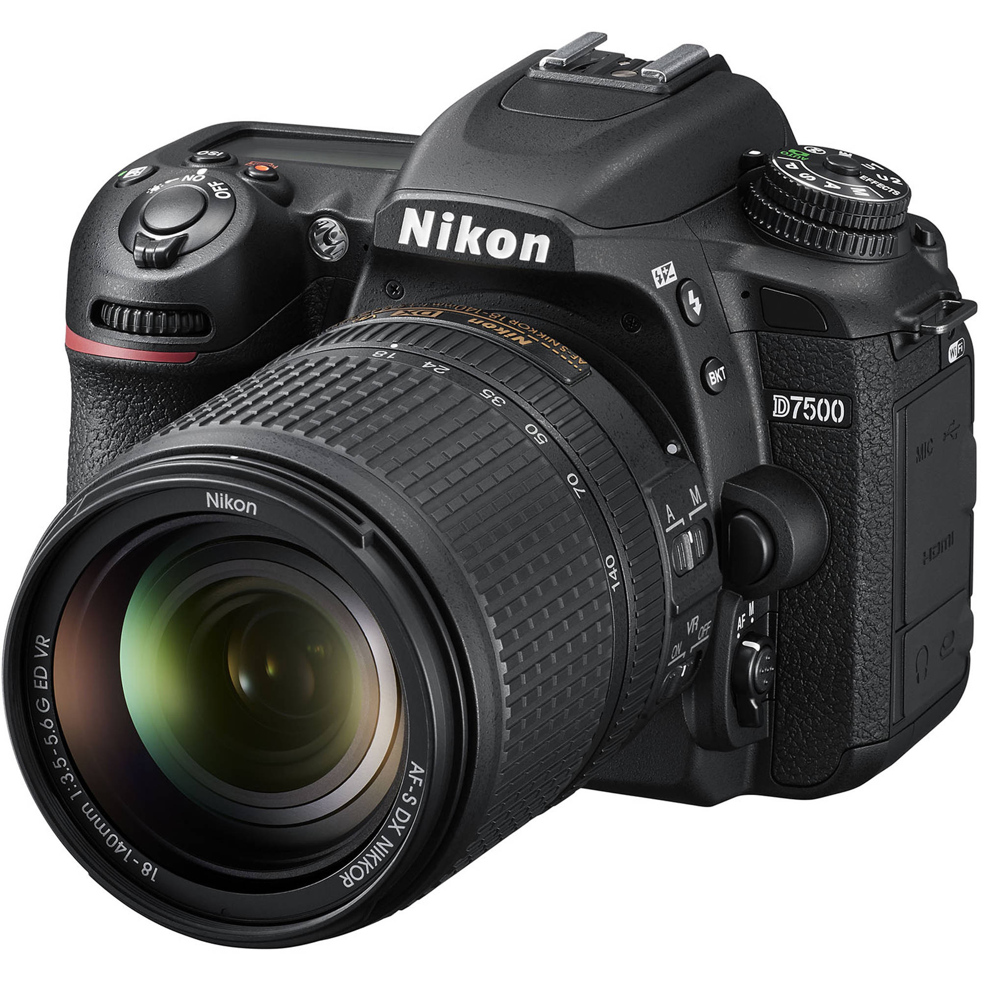 Nikon D7500 DSLR Camera with 18-140mm Lens 1582 B&H Photo Video