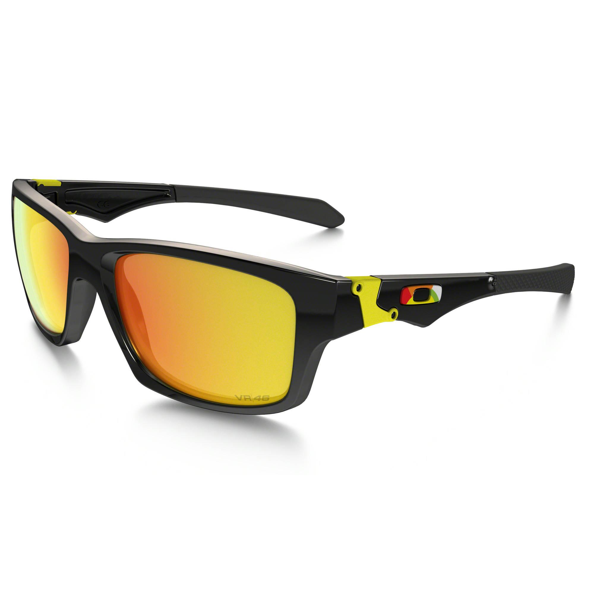 black and yellow oakley sunglasses r7ig  Oakley Valentino Rossi Sunglasses Polished Black Frames, Fire Iridium  Lenses