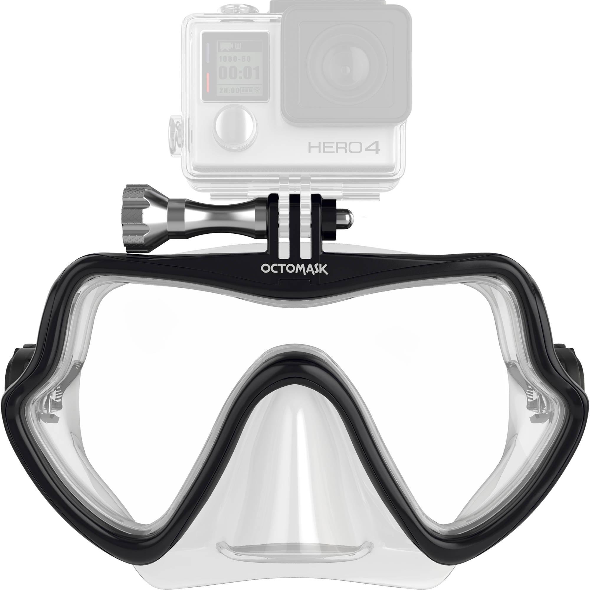 7b1dc9c4cfc6 OCTOMASK Frameless Scuba Mask for GoPro Camera (Clear) 202 B H