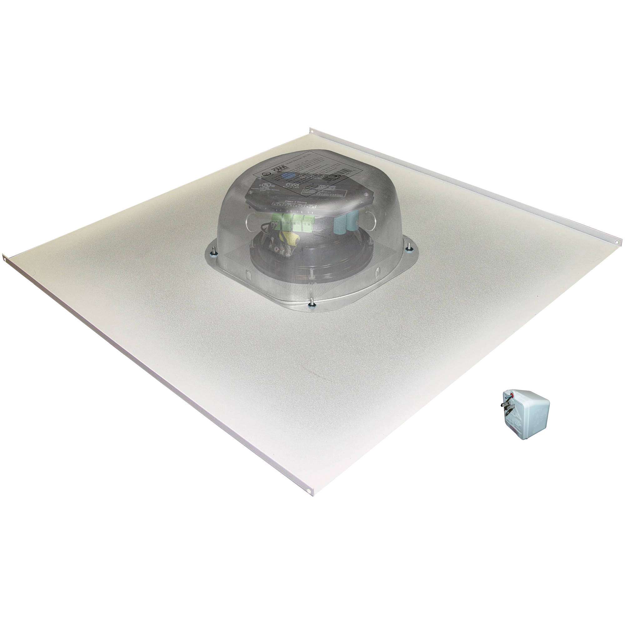 Owi Inc Amplified Drop Ceiling Speaker On A 2x2 Metal Tile