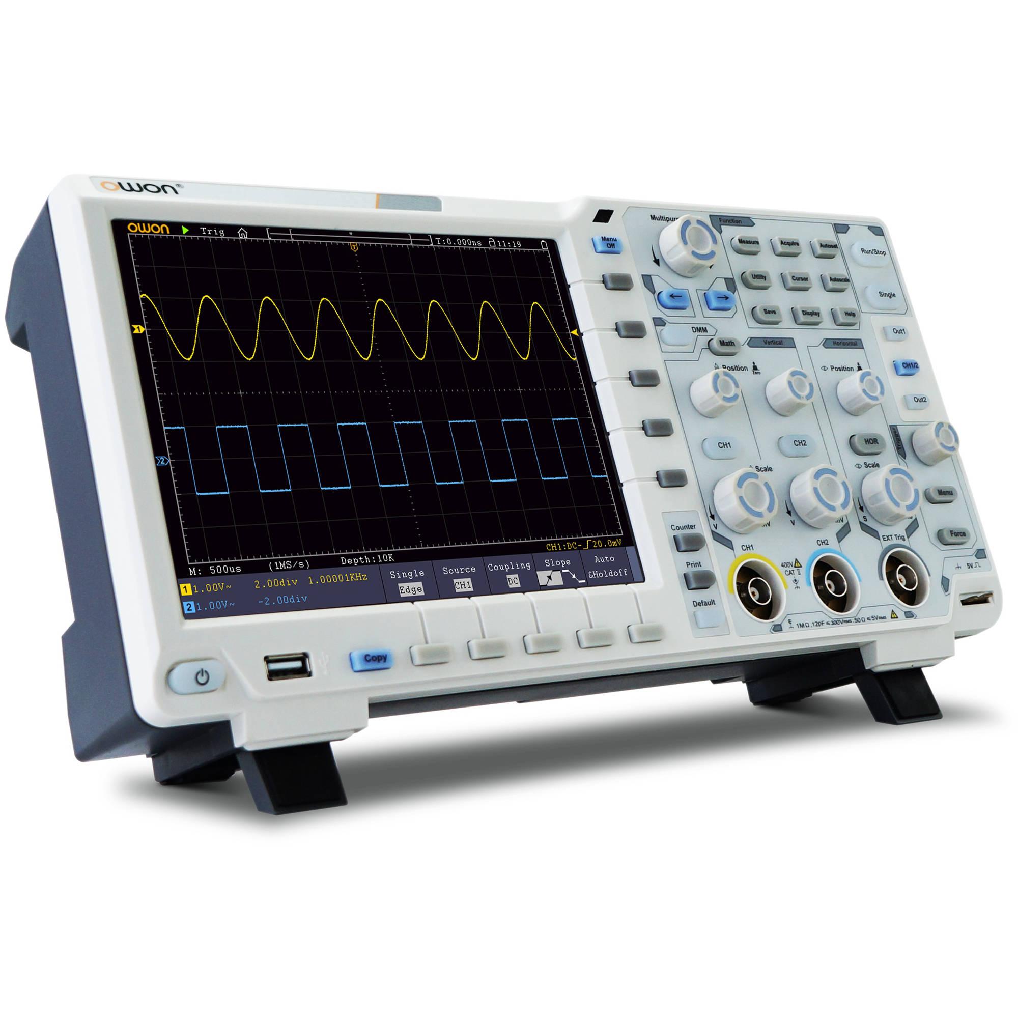 Oscilloscope Image Of B : Owon technology xds n in digital storage oscilloscope