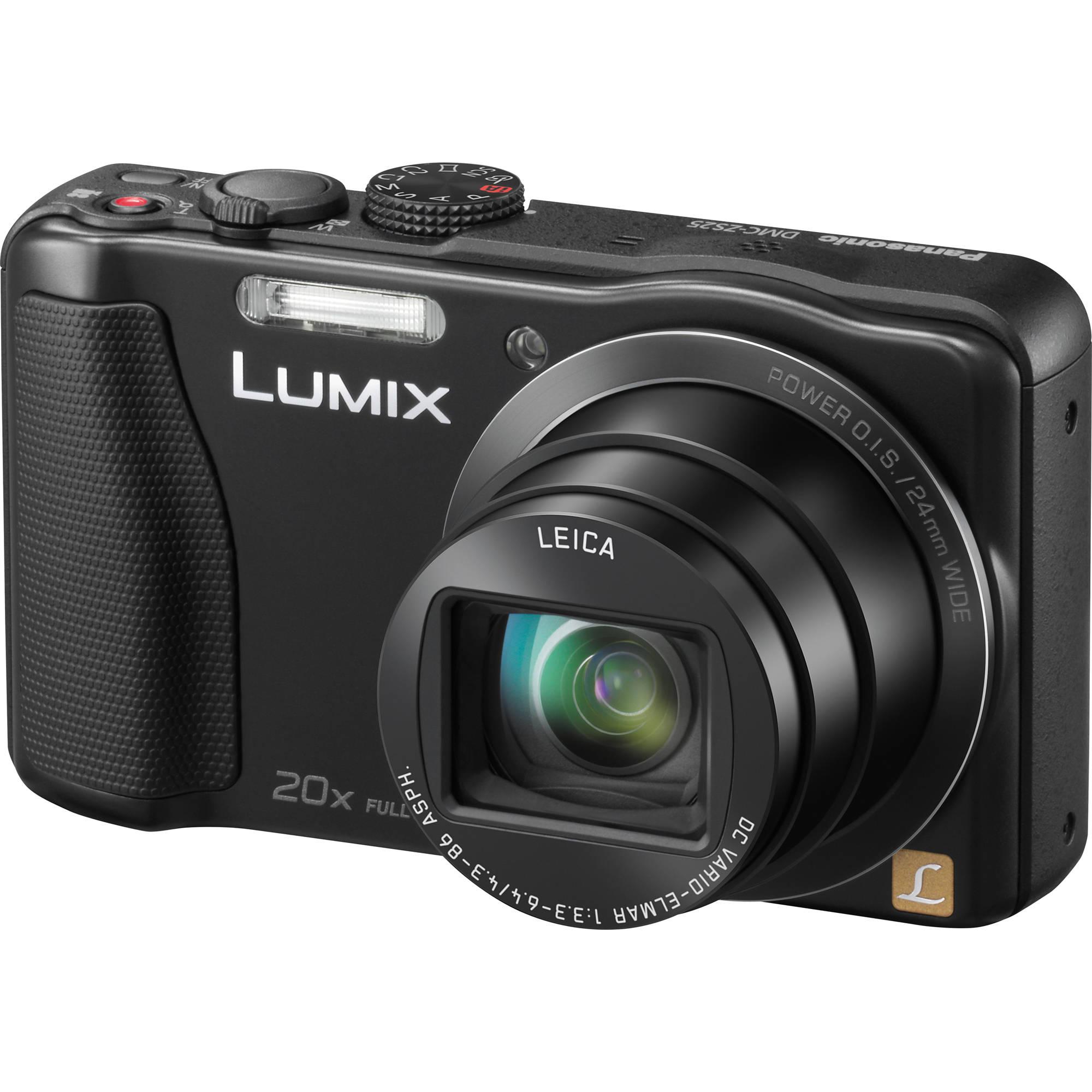 Panasonic Lumix DMC-ZS25 Digital Camera (Black) DMC-ZS25K B&H
