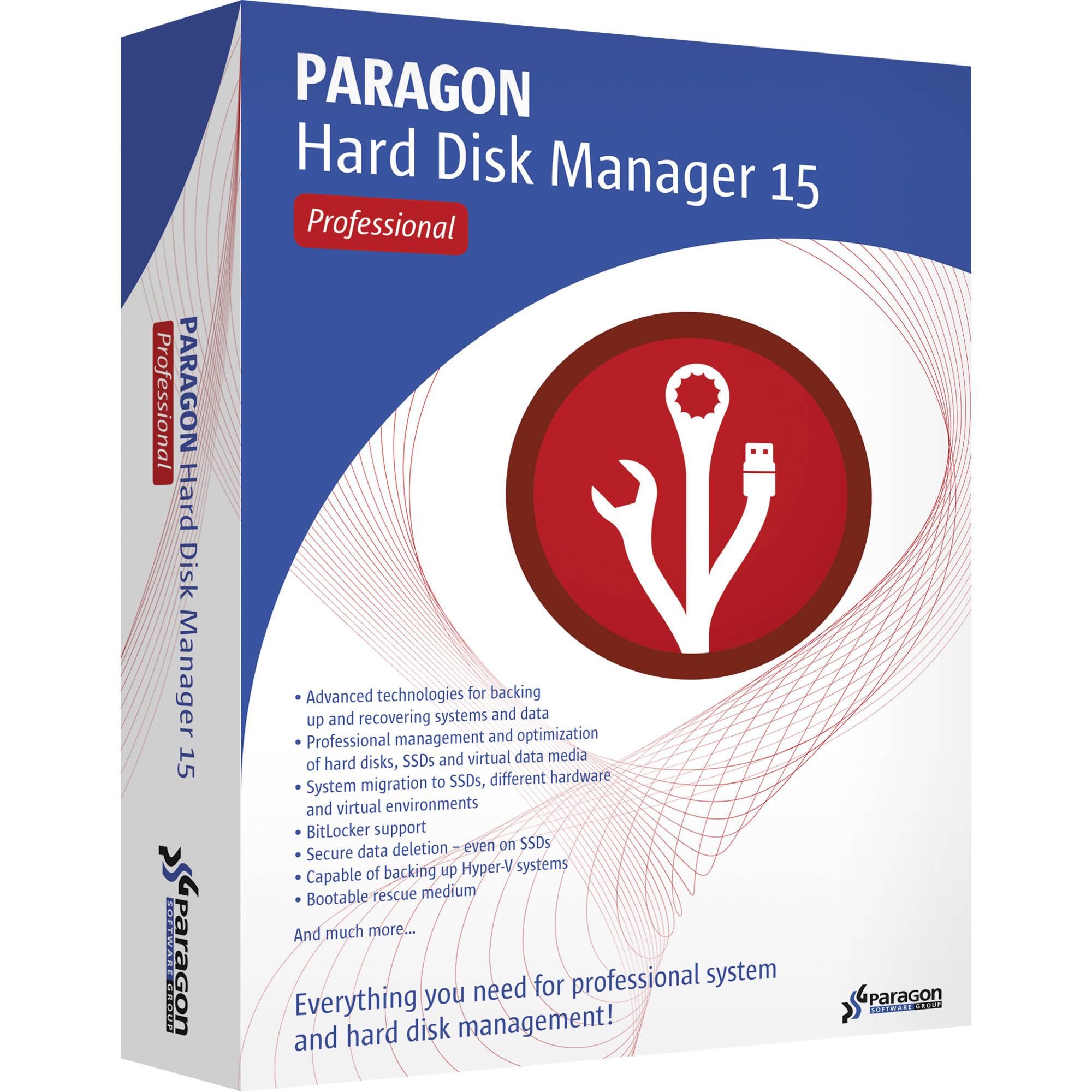 Paragon hard disk manager 15 professional (download) 299prepl.