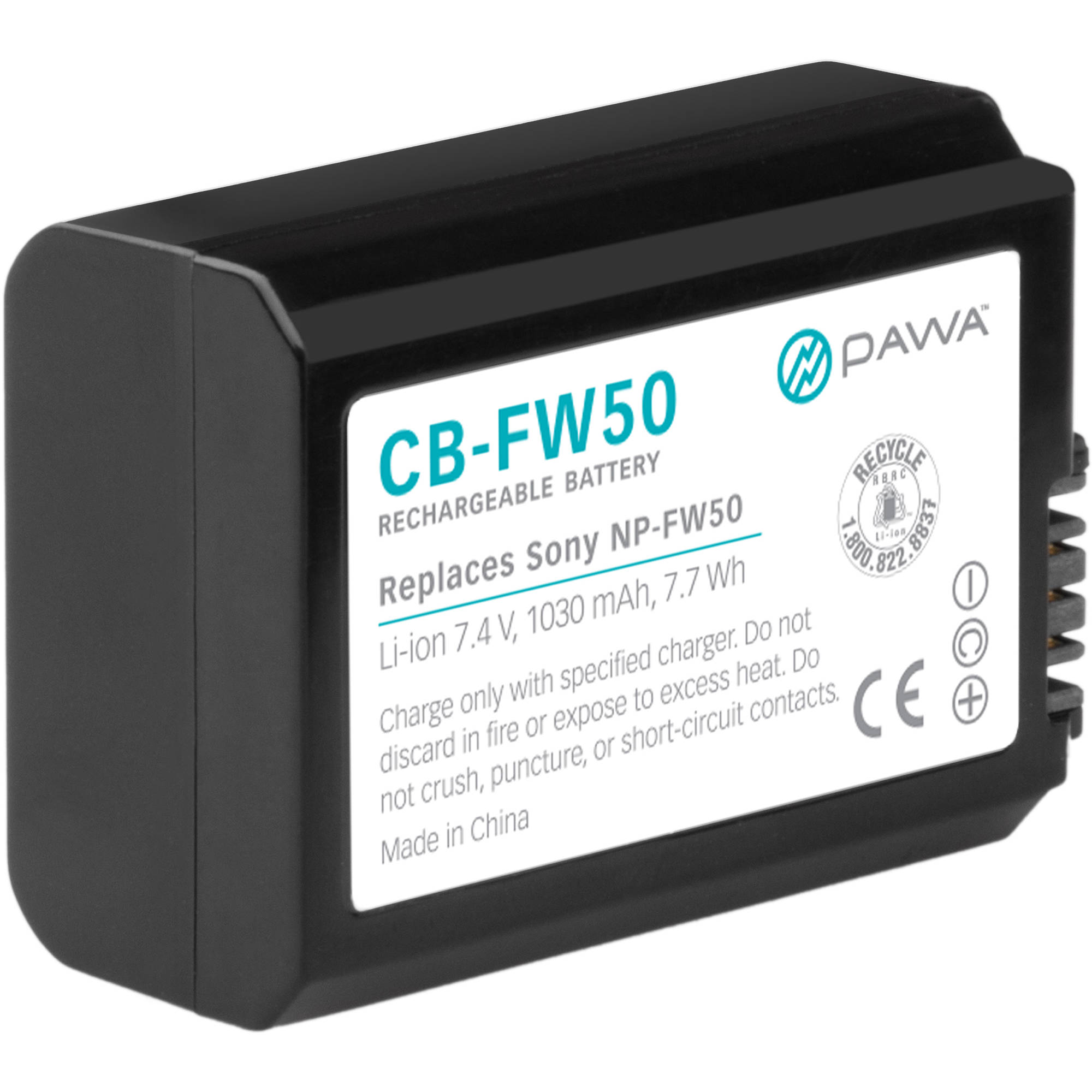 Lithium Ion Battery Pack Pawa NP-FW50 Li...