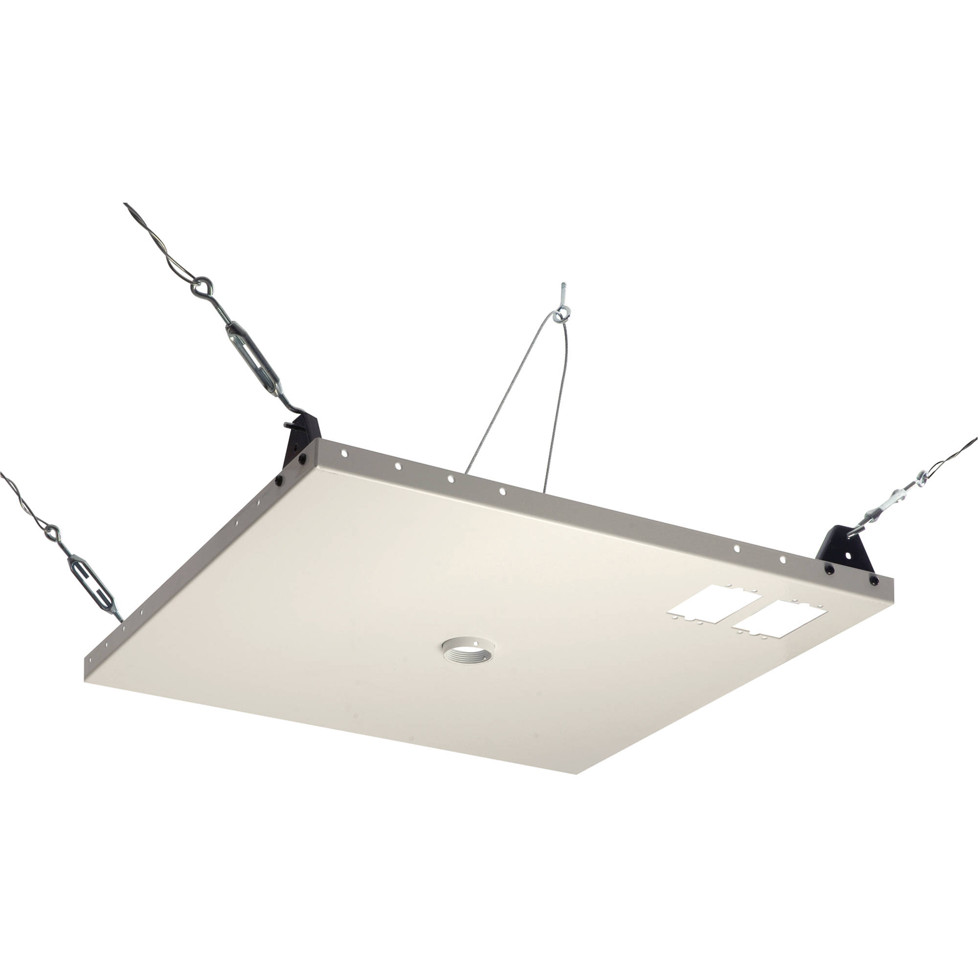 with fits flat or mount projection screen white plate bracket universal vaulted premier installation suspended ceiling drop both adjustable height projector optoma