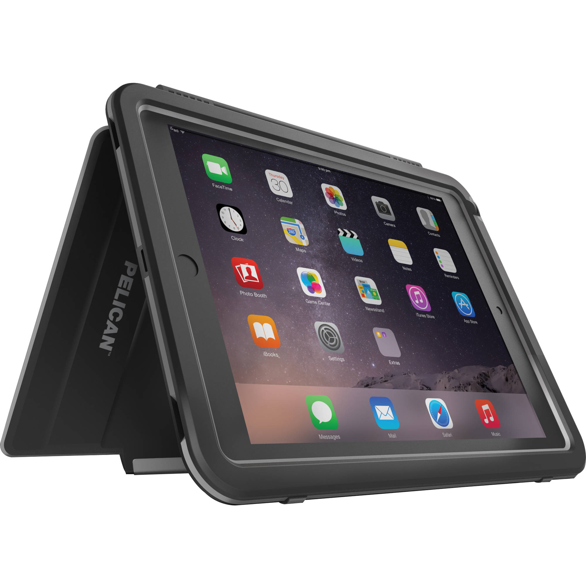 pelican progear vault tablet case for ipad mini ce12080 m30a blkcase for ipad mini 1,2,3 (black) ipod, ipad, or iphone not included