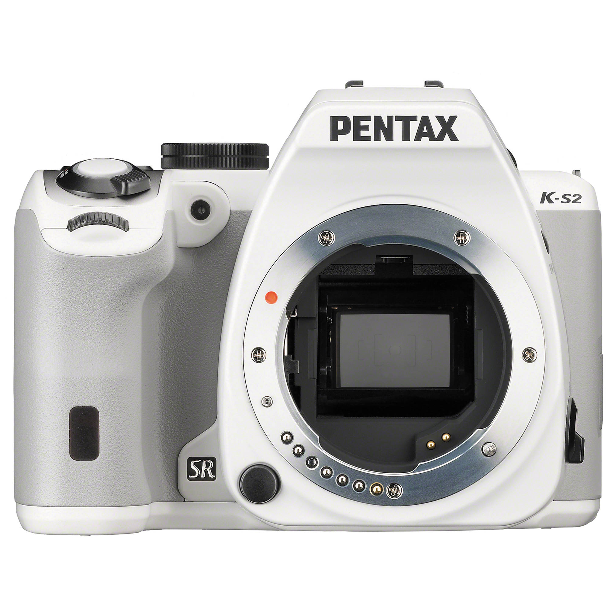 pentax k-s2 dslr camera (body only, white) 11890 b&h photo video