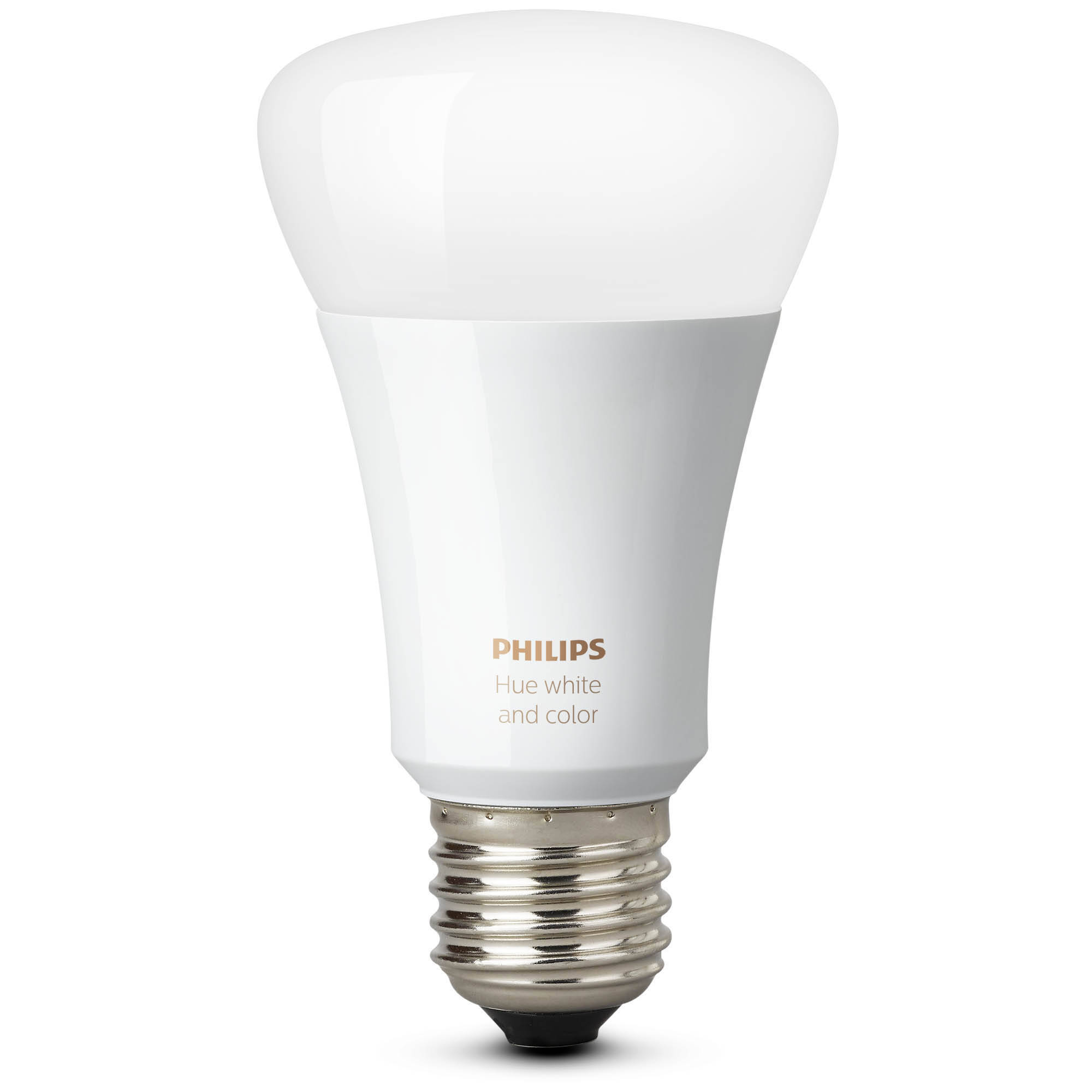 philips hue white and color ambiance a19 single bulb 464487 b h. Black Bedroom Furniture Sets. Home Design Ideas