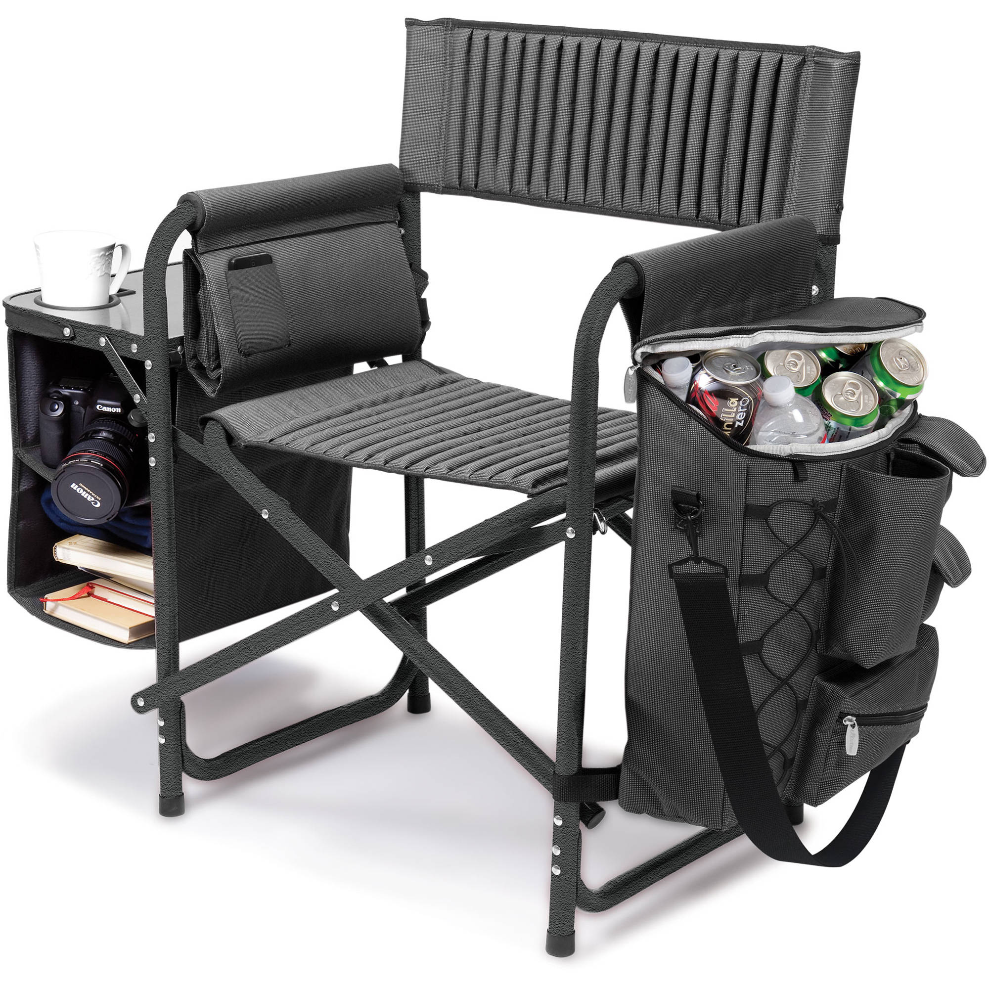 Picnic Time Fusion Camp Chair Dark Gray Black 807 00 679 000 0