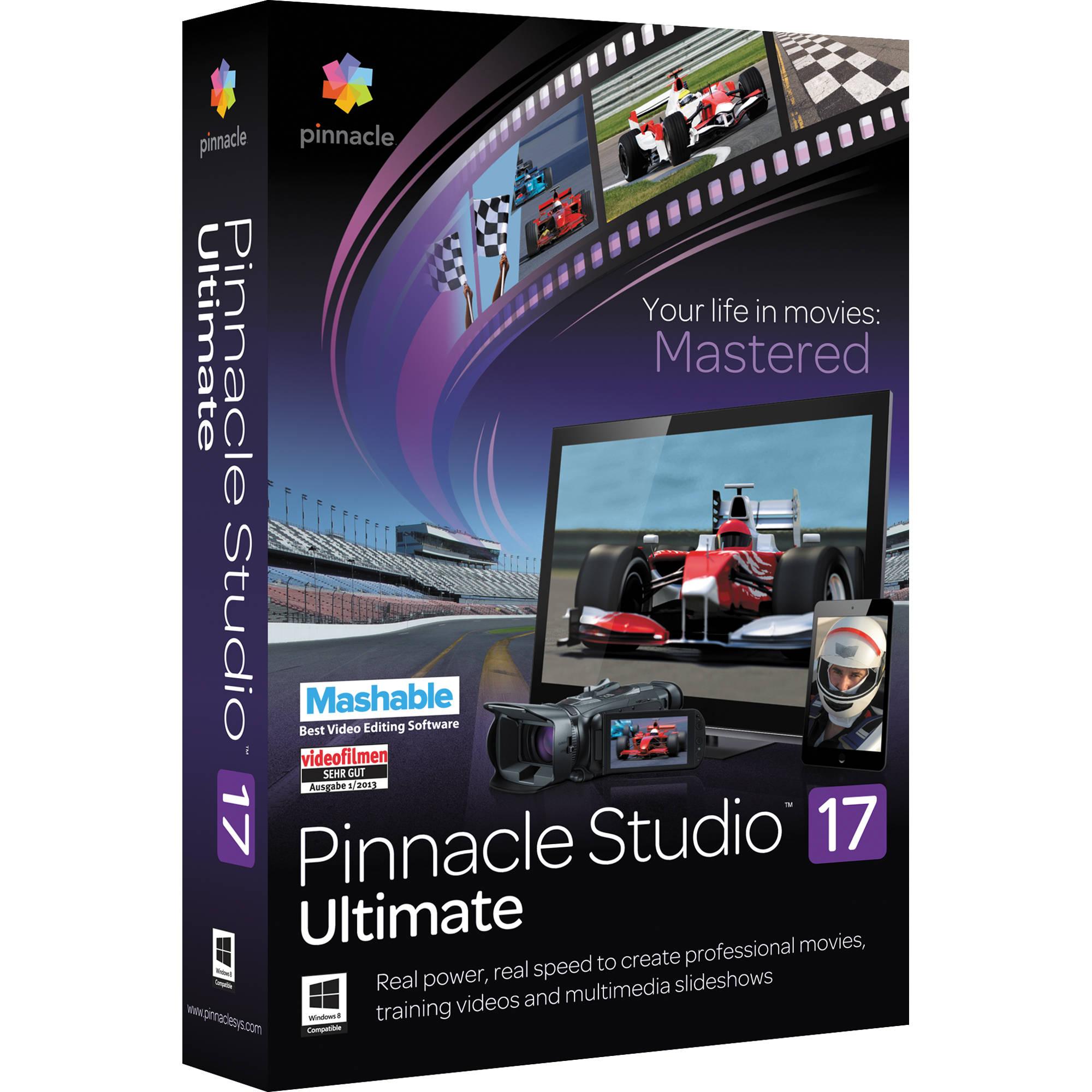 Pinnacle studio 17 ultimate boxed version pnst17ulenam bh pinnacle studio 17 ultimate boxed version maxwellsz