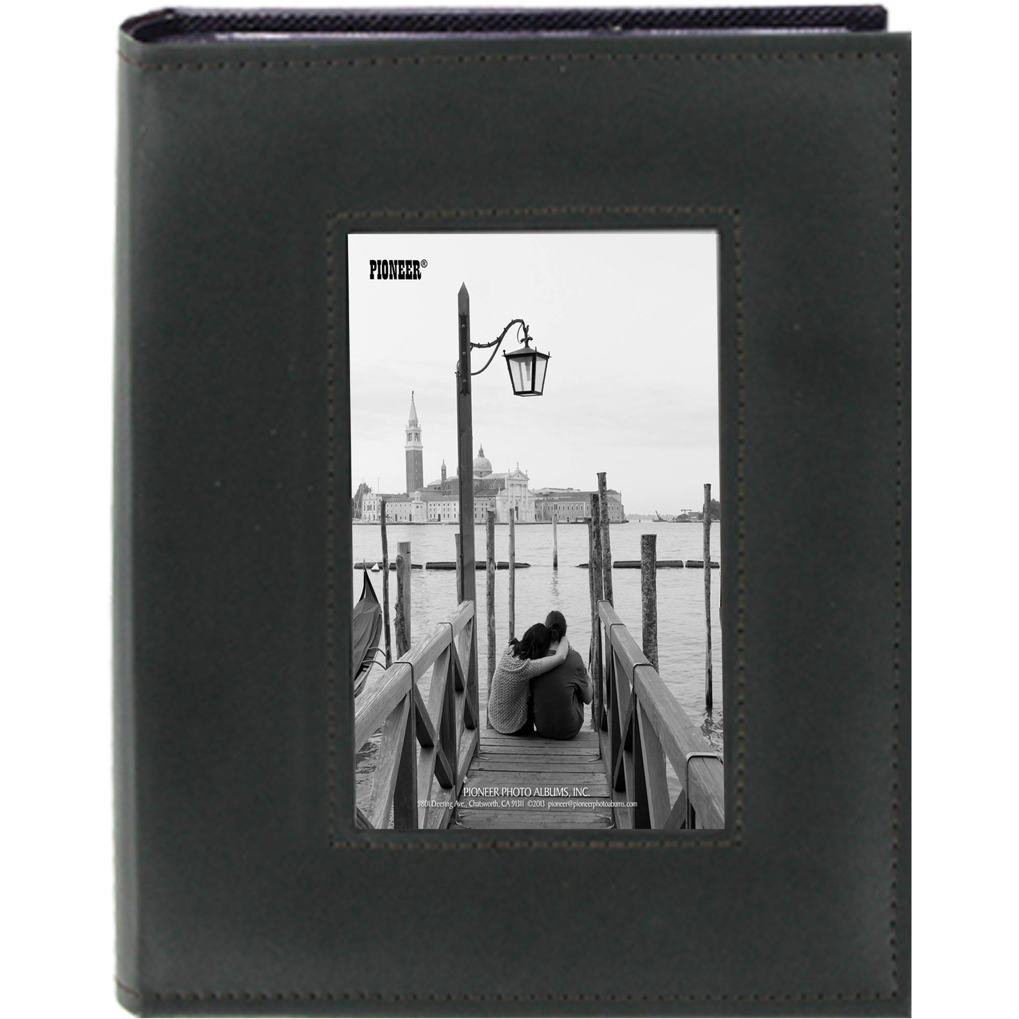 Phto Albums: Pioneer Photo Albums Sewn Photo Album With Frame FRM246/BK B&H