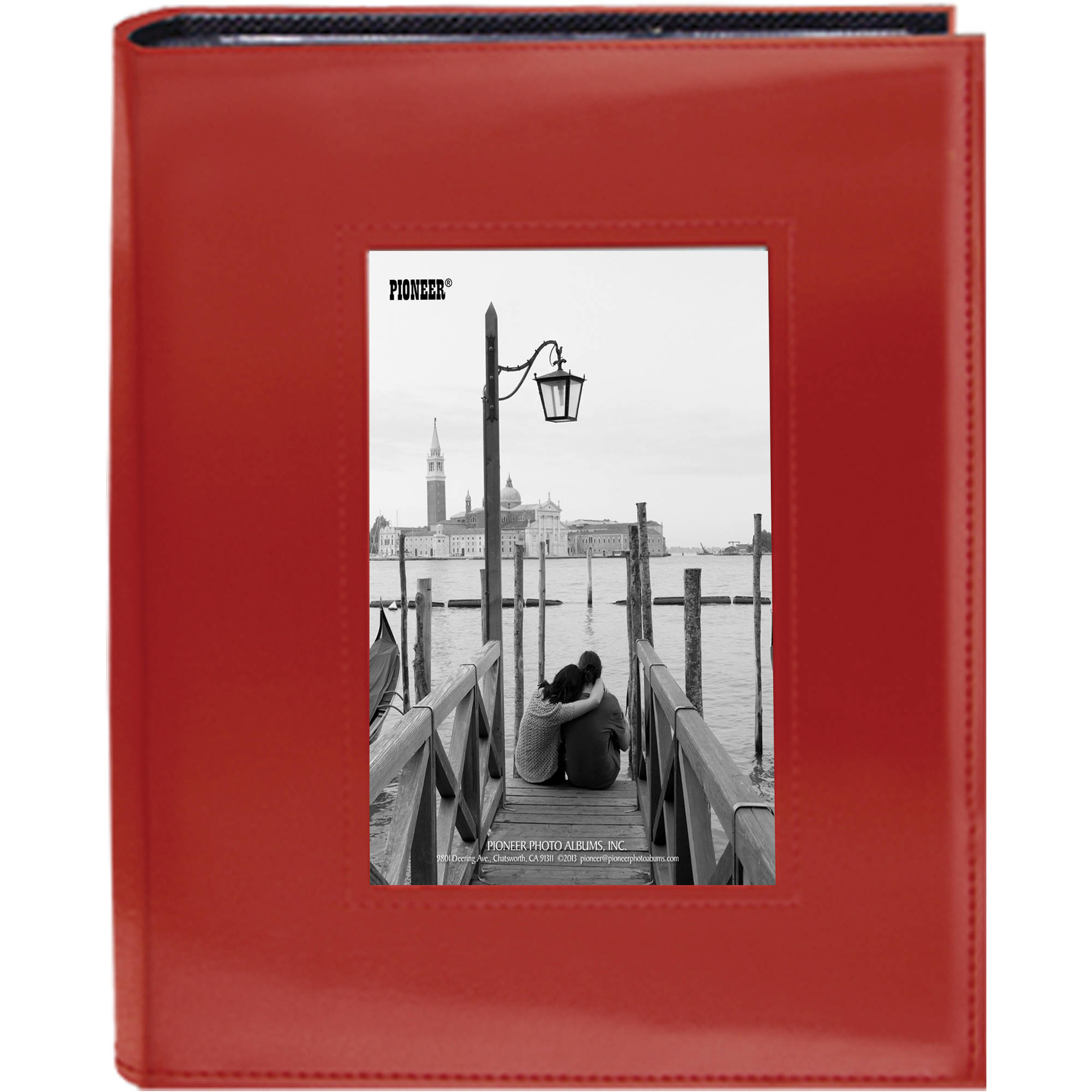 Pioneer Photo Albums Sewn Photo Album With Frame Cutout Frm246r