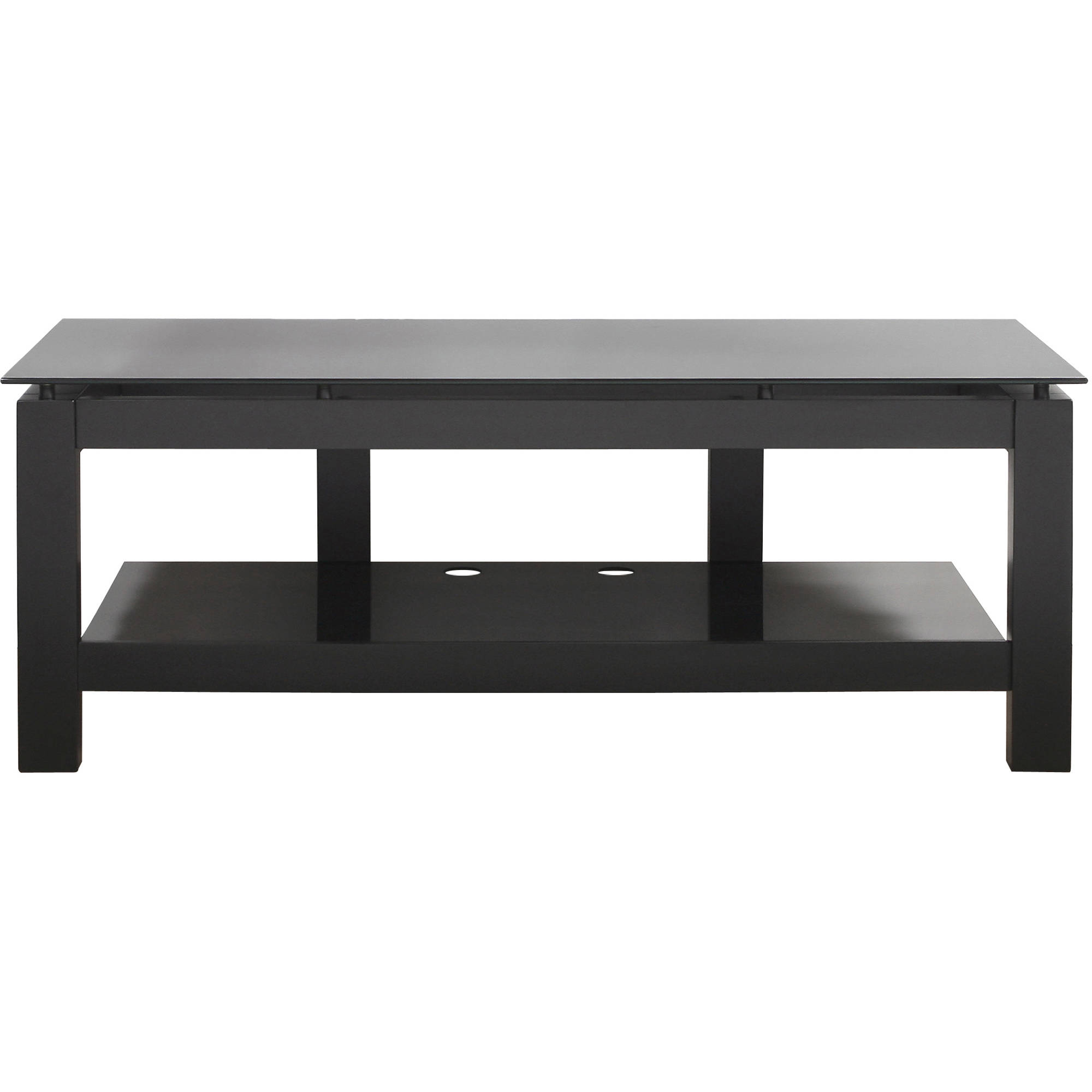 PLATEAU SL 2V 50 TV Stand With Black Glass