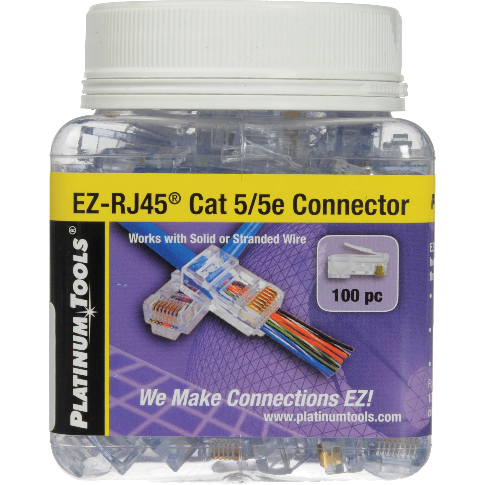 Platinum Tools Ez Rj45 Cat5 5e Connectors Jar 100 202003j Bh The Wiring Of Conductors To Has Also Been Established By
