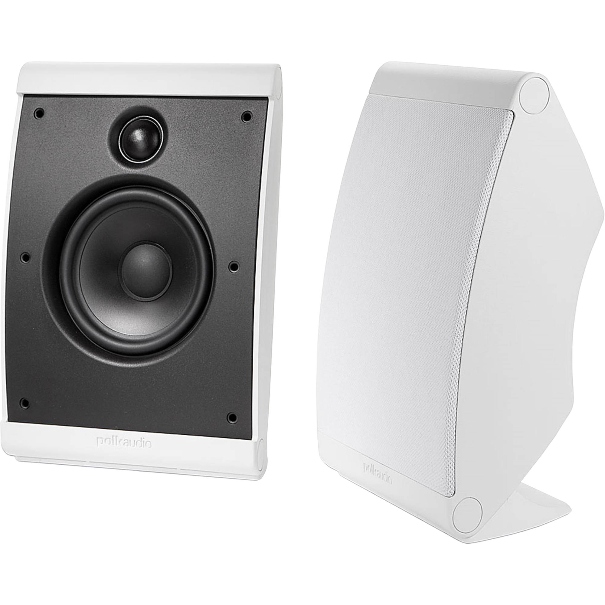 Polk Audio Owm3 Compact Surround Speakers  Pair  White  Am3348