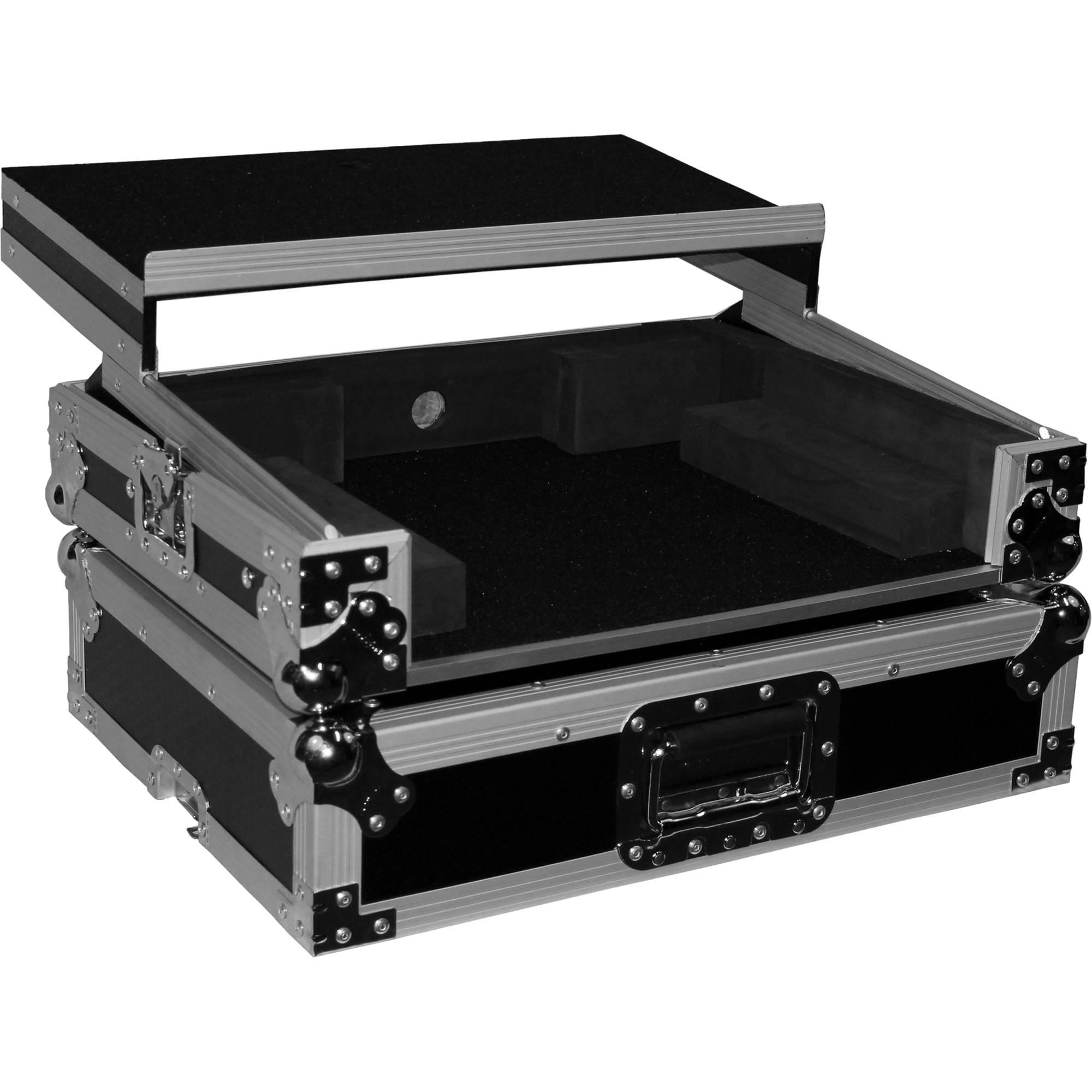 prox flight case for denon mc6000 and mc6000mk2 xs dnmc6000lt. Black Bedroom Furniture Sets. Home Design Ideas