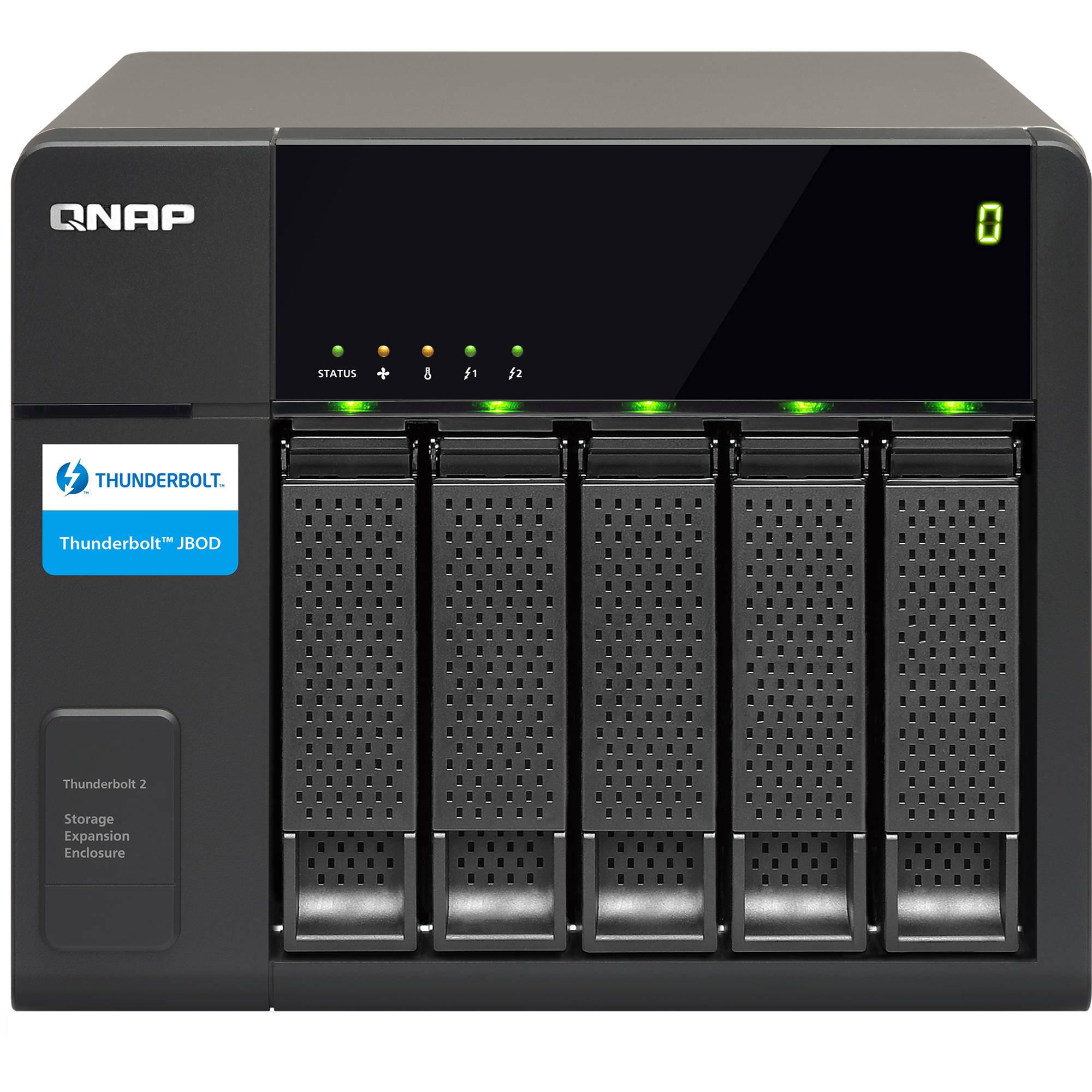 Qnap 5 bay tx 500p thunderbolt 2 expansion enclosure tx Storage bay