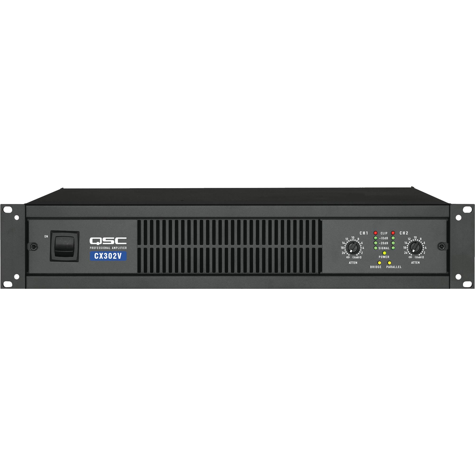 qsc cx 302v 2 channel direct output power amplifier cx302v b h. Black Bedroom Furniture Sets. Home Design Ideas