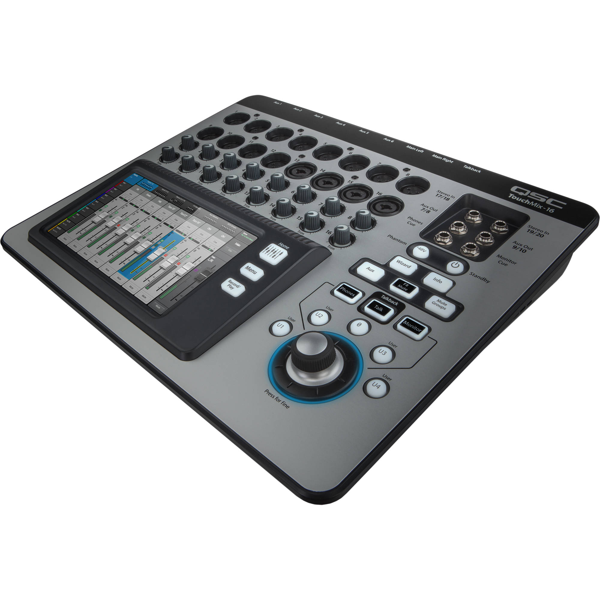 qsc touchmix 16 compact digital mixer with touchscreen