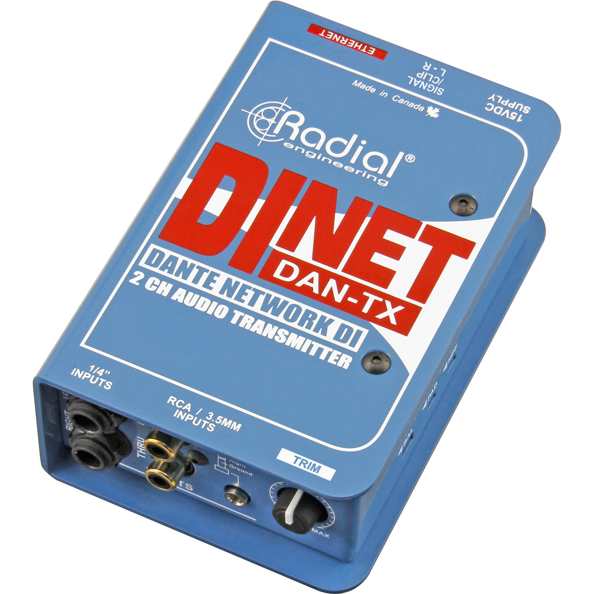 Radial Engineering DiNET DAN-TX Dante-Enabled Stereo R800 1062