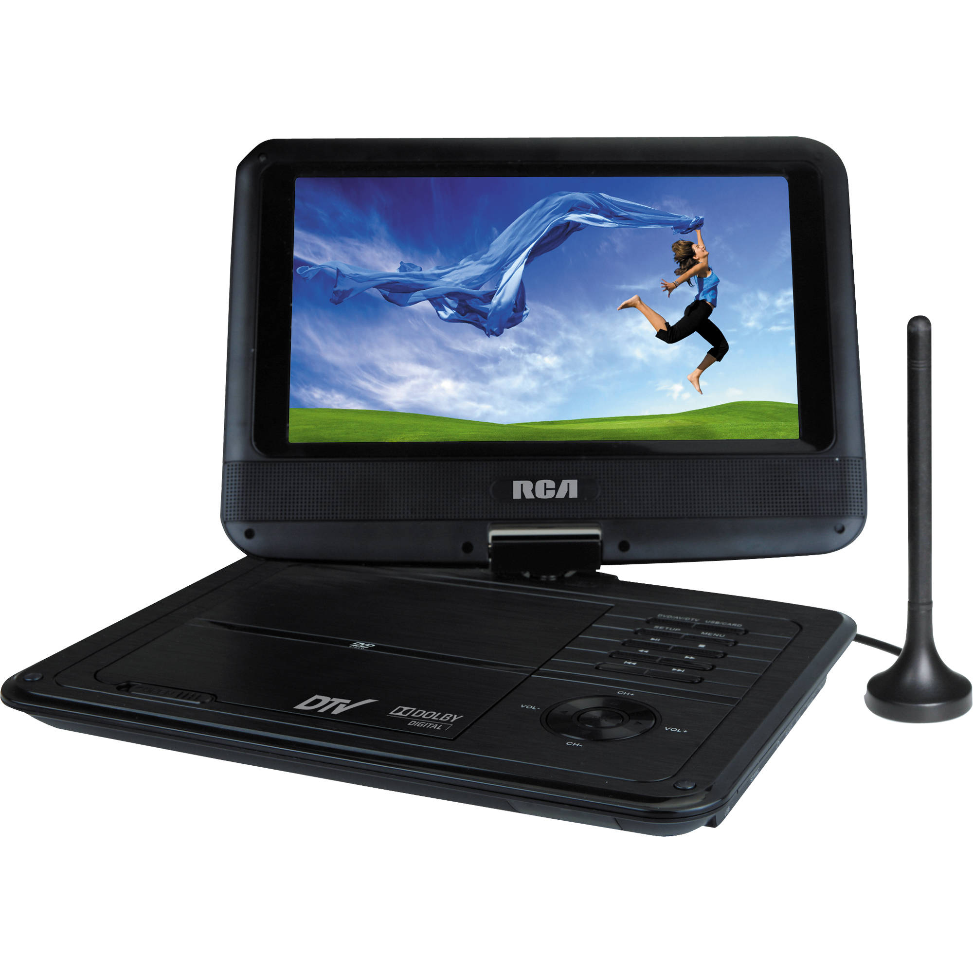 rca 9 portable dvd tv combo player dpdm95r b h photo video. Black Bedroom Furniture Sets. Home Design Ideas