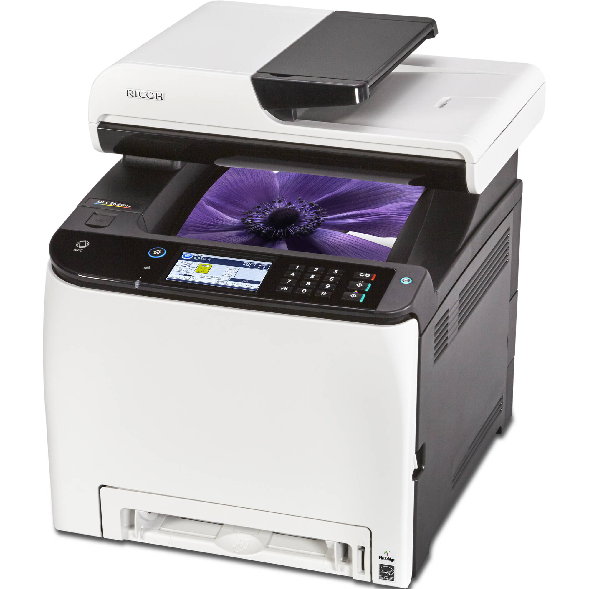 Ricoh SP C262SFNw All In One Color Laser Printer 408139 BampH