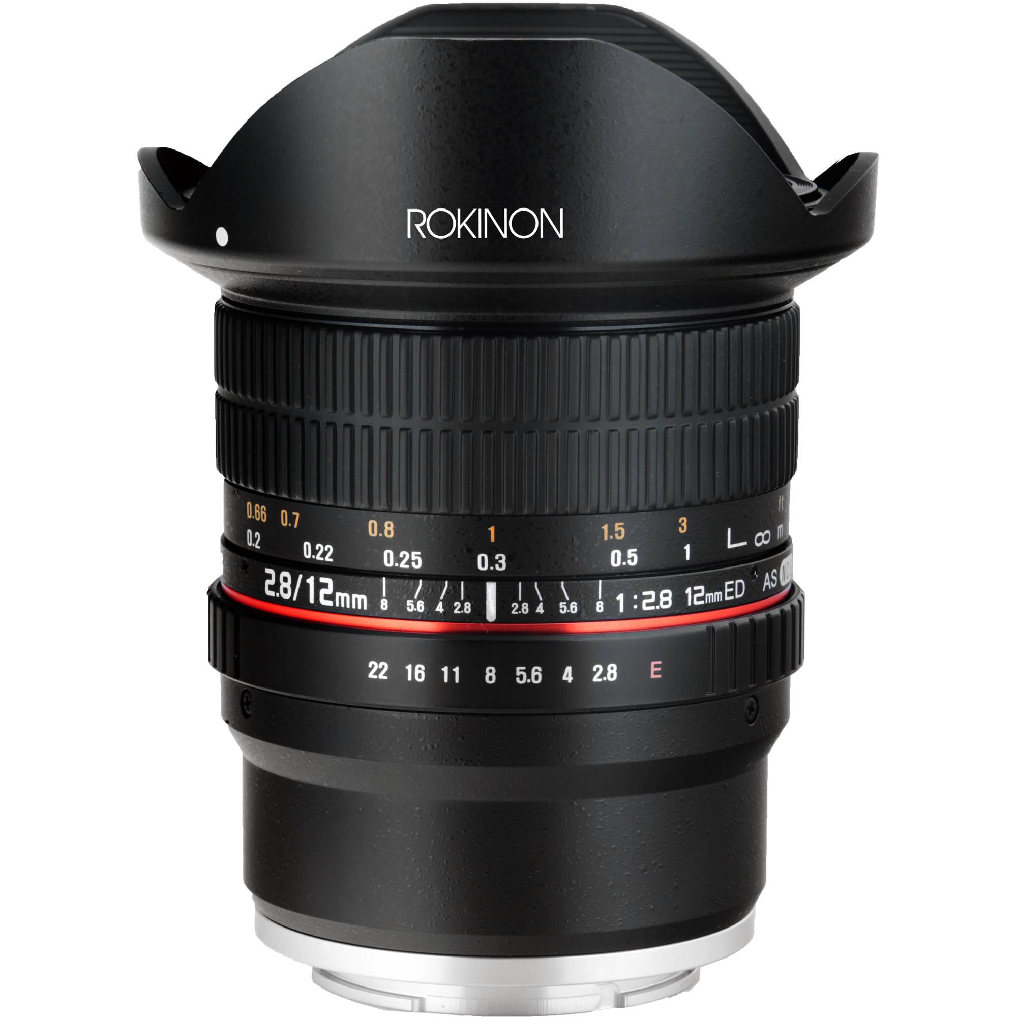 Rokinon 12mm F 2 8 Ed As If Ncs Umc Fisheye Lens For Sony E