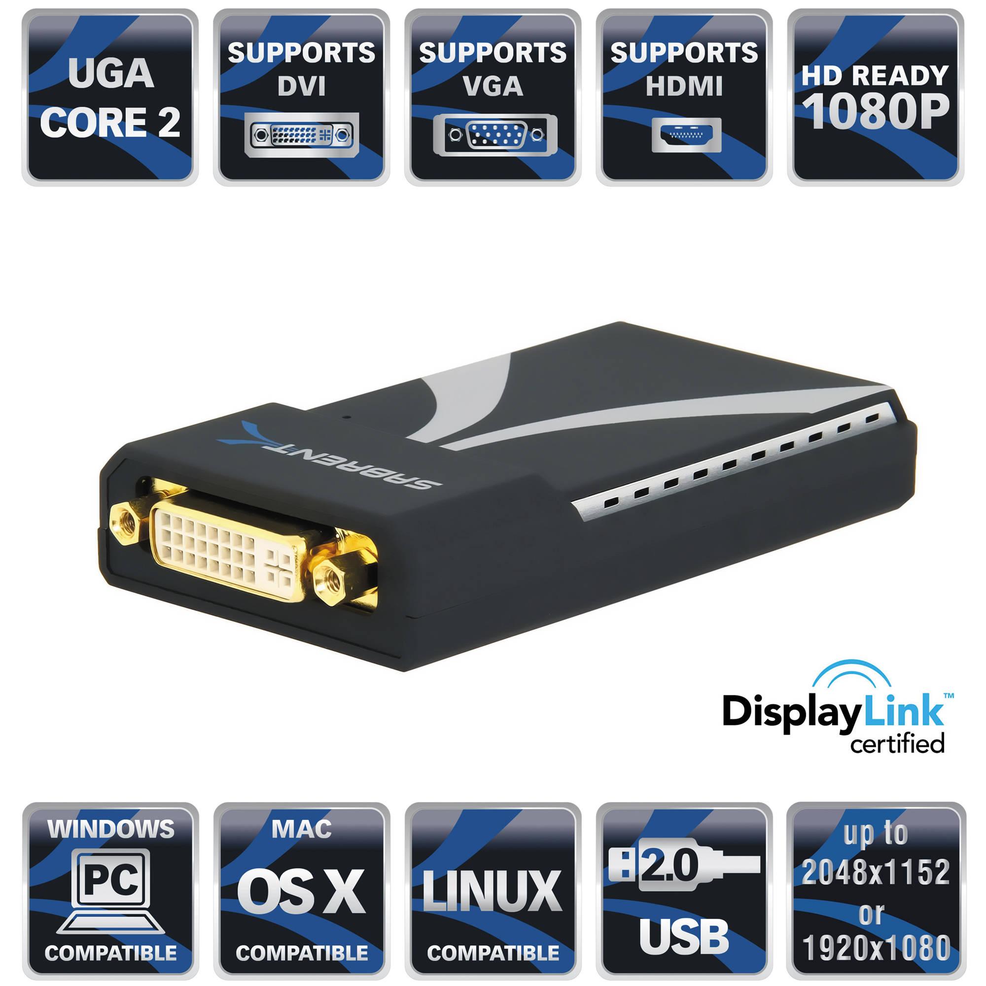 Usb 2 0 To Vga Adapter Mac Cable Hdmi Macbook Air Fnac Micro Sd Adapter Nedir Intex Adapter B Amazon: Sabrent Multi-Display USB 2.0 To DVI/VGA Or HDMI Adapter