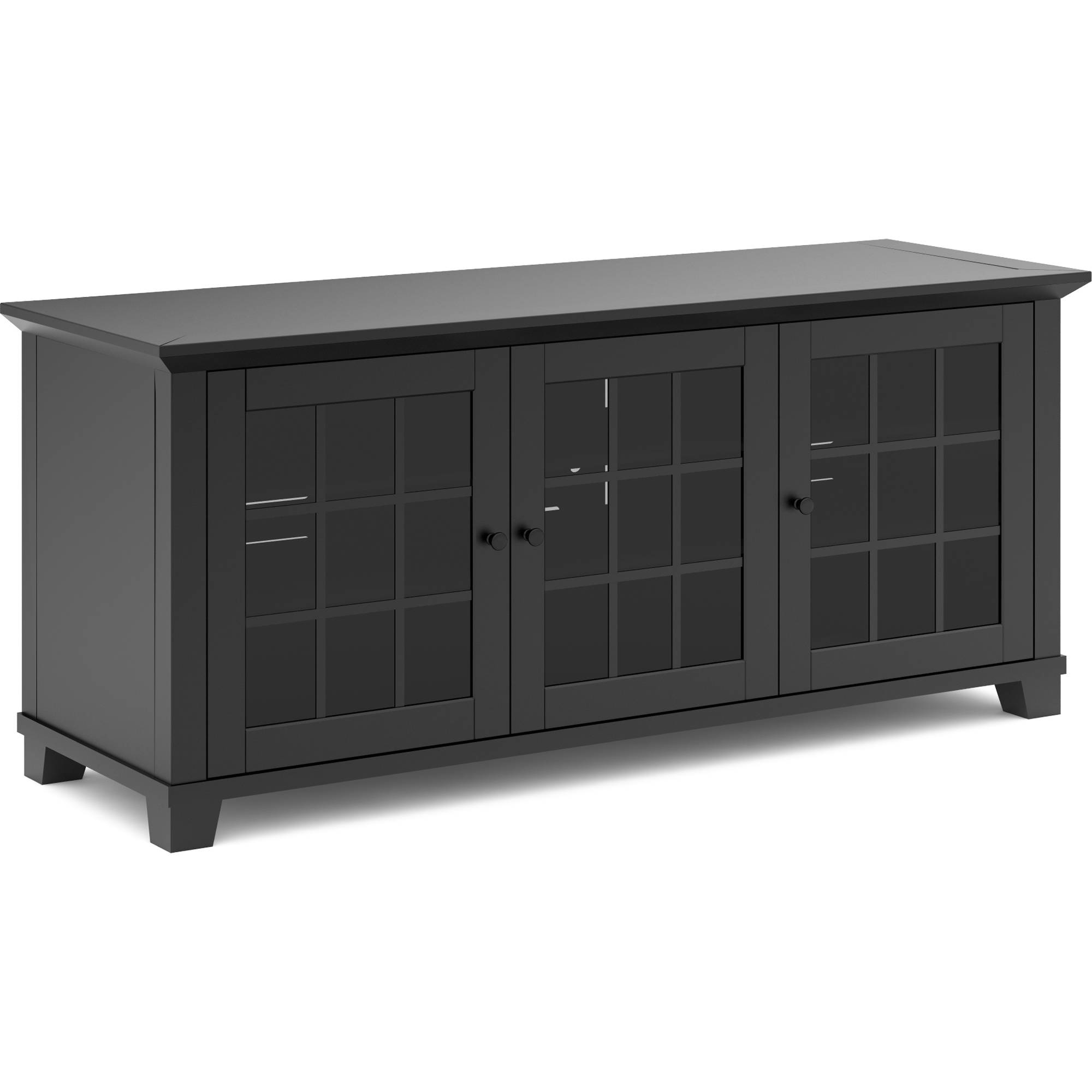 Salamander design audio video cabinet in matte sdav1 6626 for Matte black kitchen doors