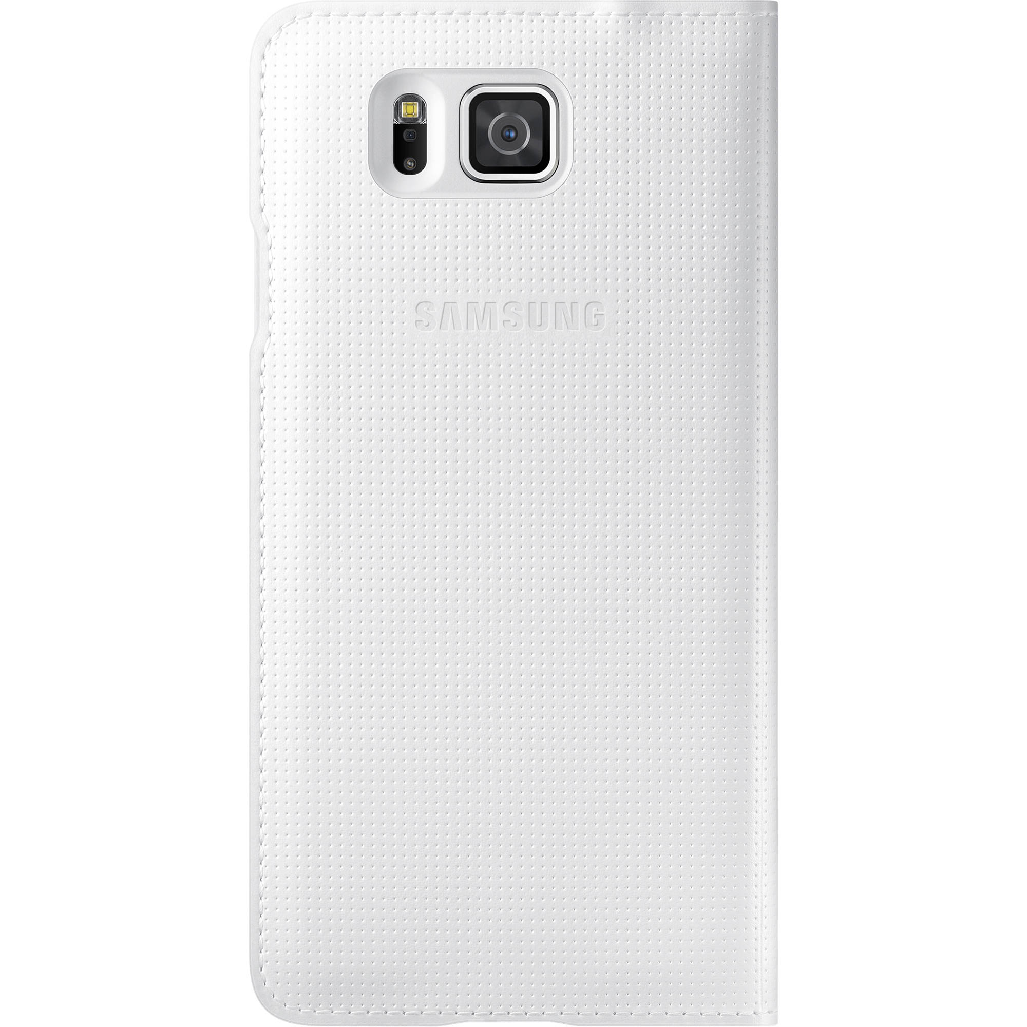 half off 98419 768b7 Samsung S-View Flip Cover for Galaxy Alpha (White)