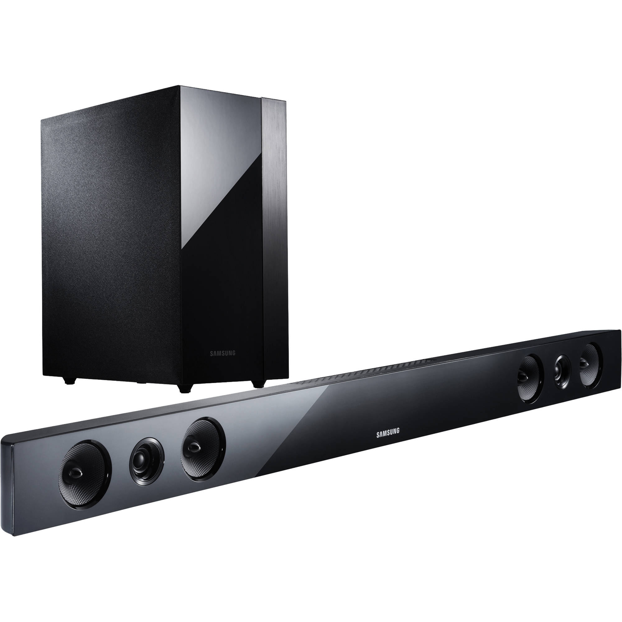 Samsung hw f450 2 1 channel sound bar system hw f450 za b h for Samsung sound bar
