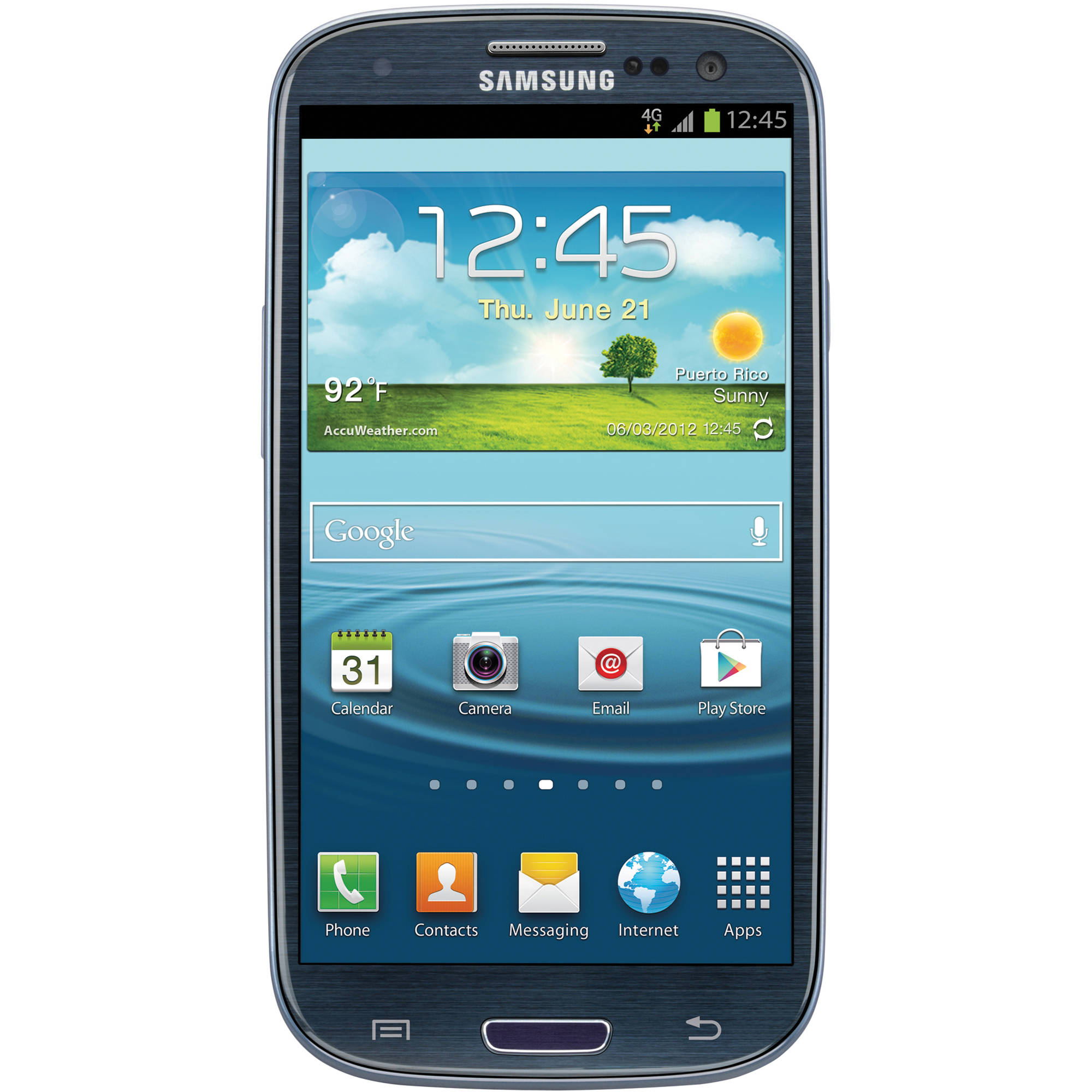 samsung galaxy s iii 16gb at t branded smartphone i747 blue. Black Bedroom Furniture Sets. Home Design Ideas
