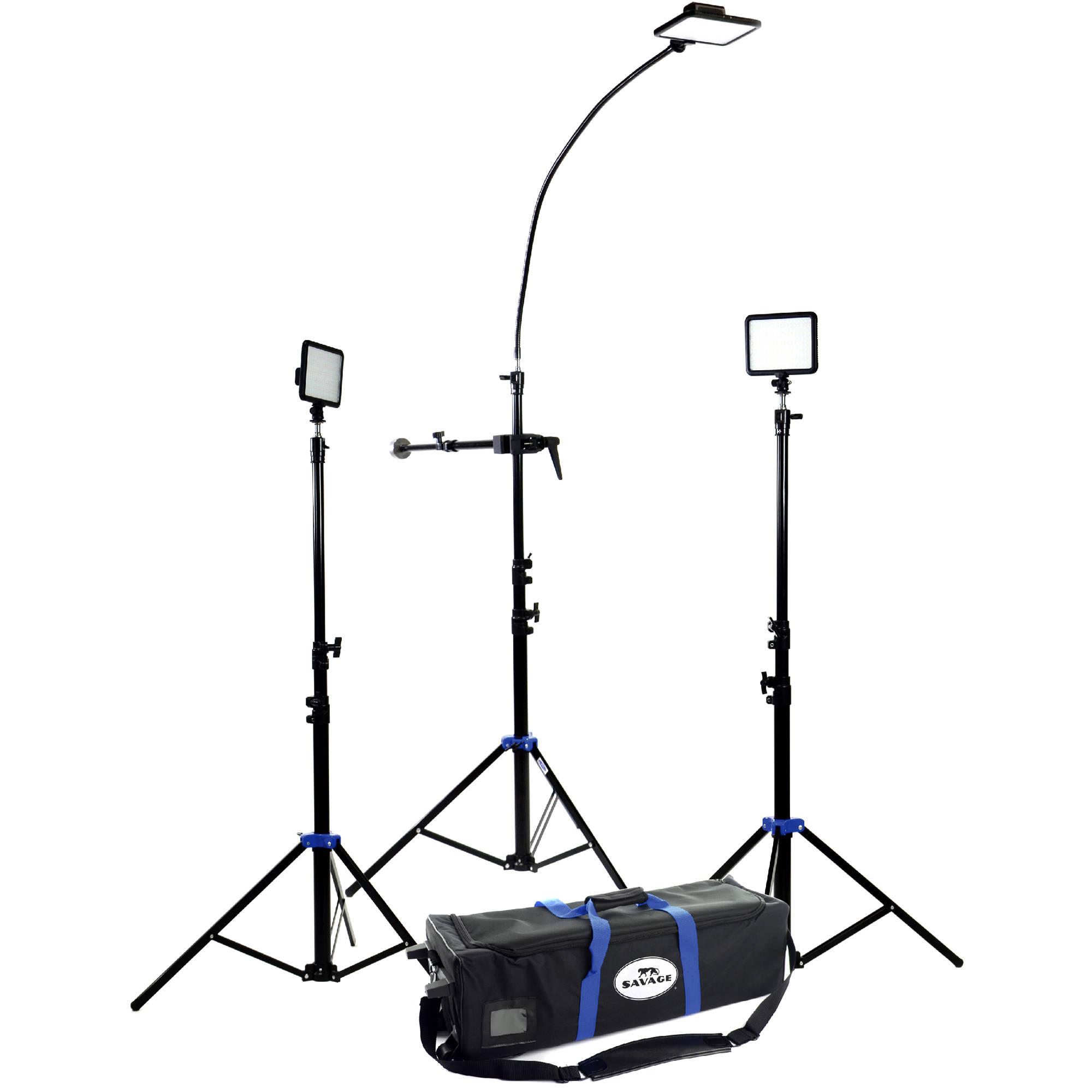 Used Savage Cobra Interview LED Light Kit INTV-3 B&H Photo