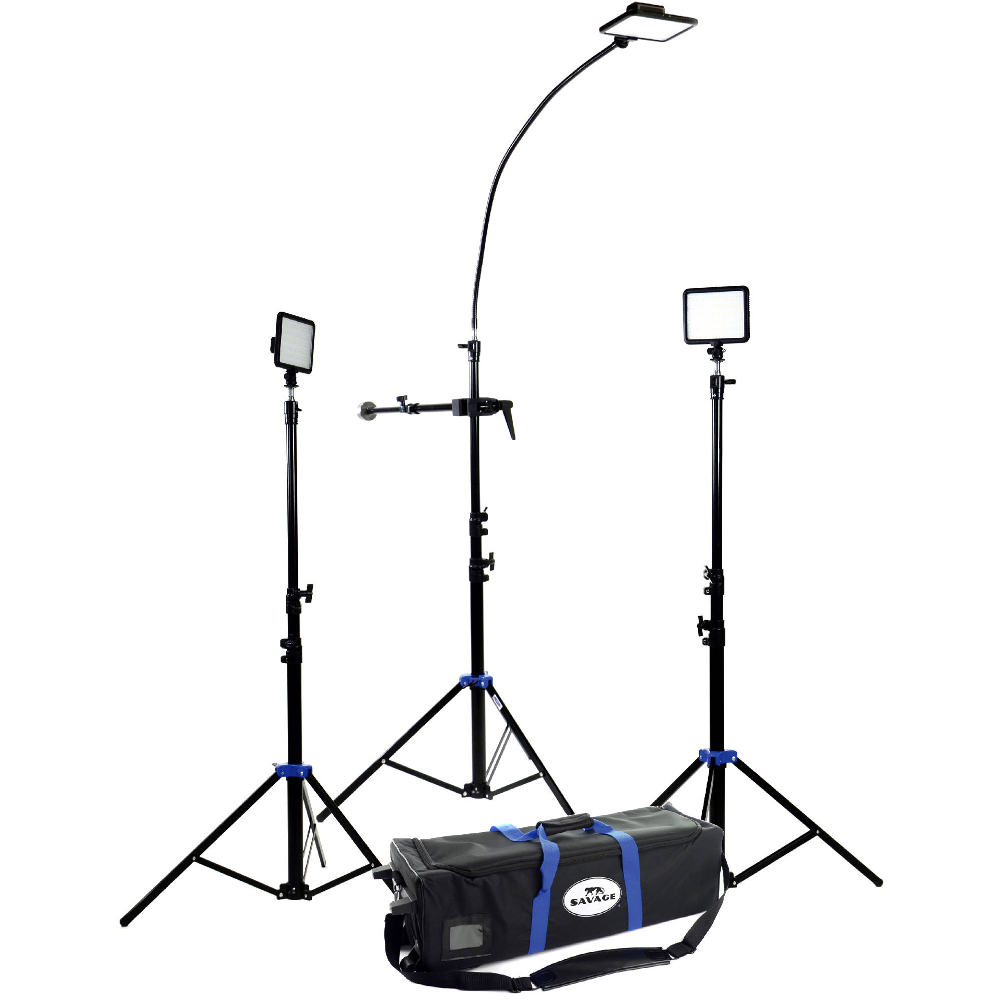 Savage Cobra Interview LED Light Kit INTV-3 B for Photography Lighting Equipment Names  76uhy