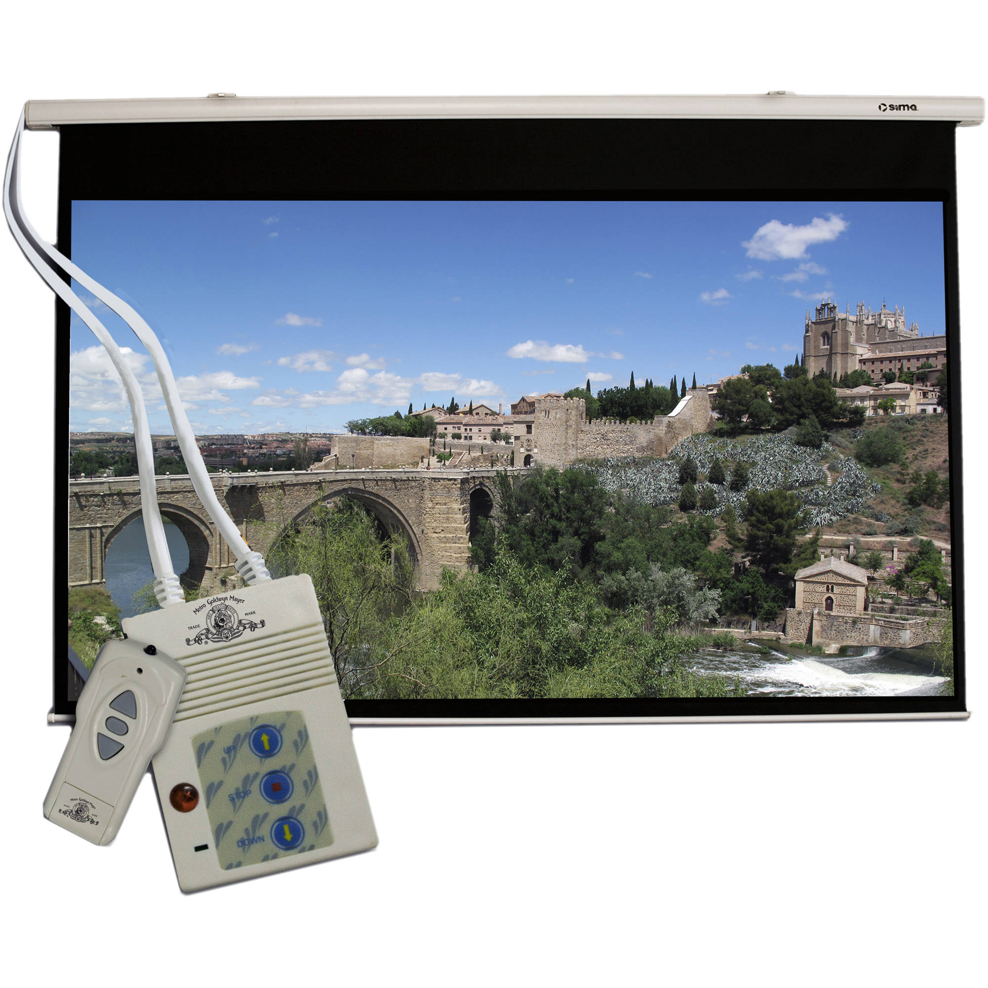 Sima Mgm 120ms 120 Motorized Projection Screen Mgm 120ms