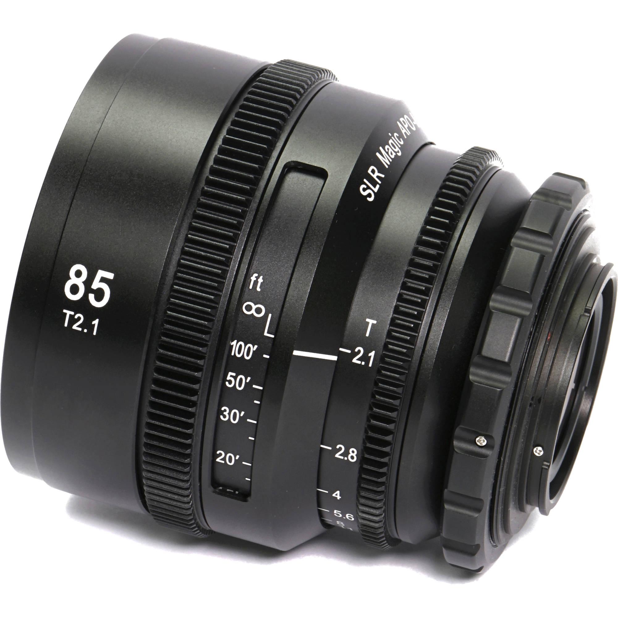 8041fe9f66 SLR Magic APO HyperPrime CINE 85mm T2.1 Lens (PL Mount with EF-Mount  Adapter)
