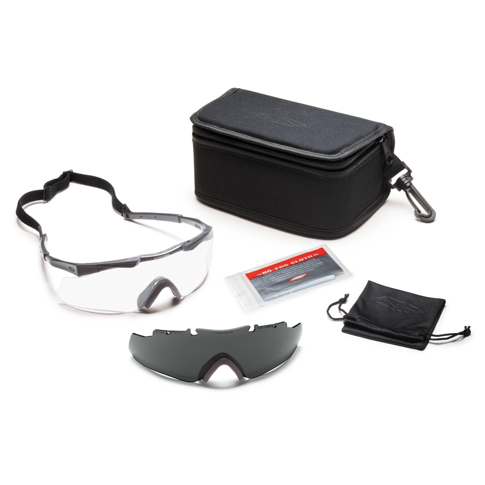 5f4eec9ab4 Smith Optics Aegis Arc Compact Protective Eyewear - Field Kit (Urban Wolf  Gray)