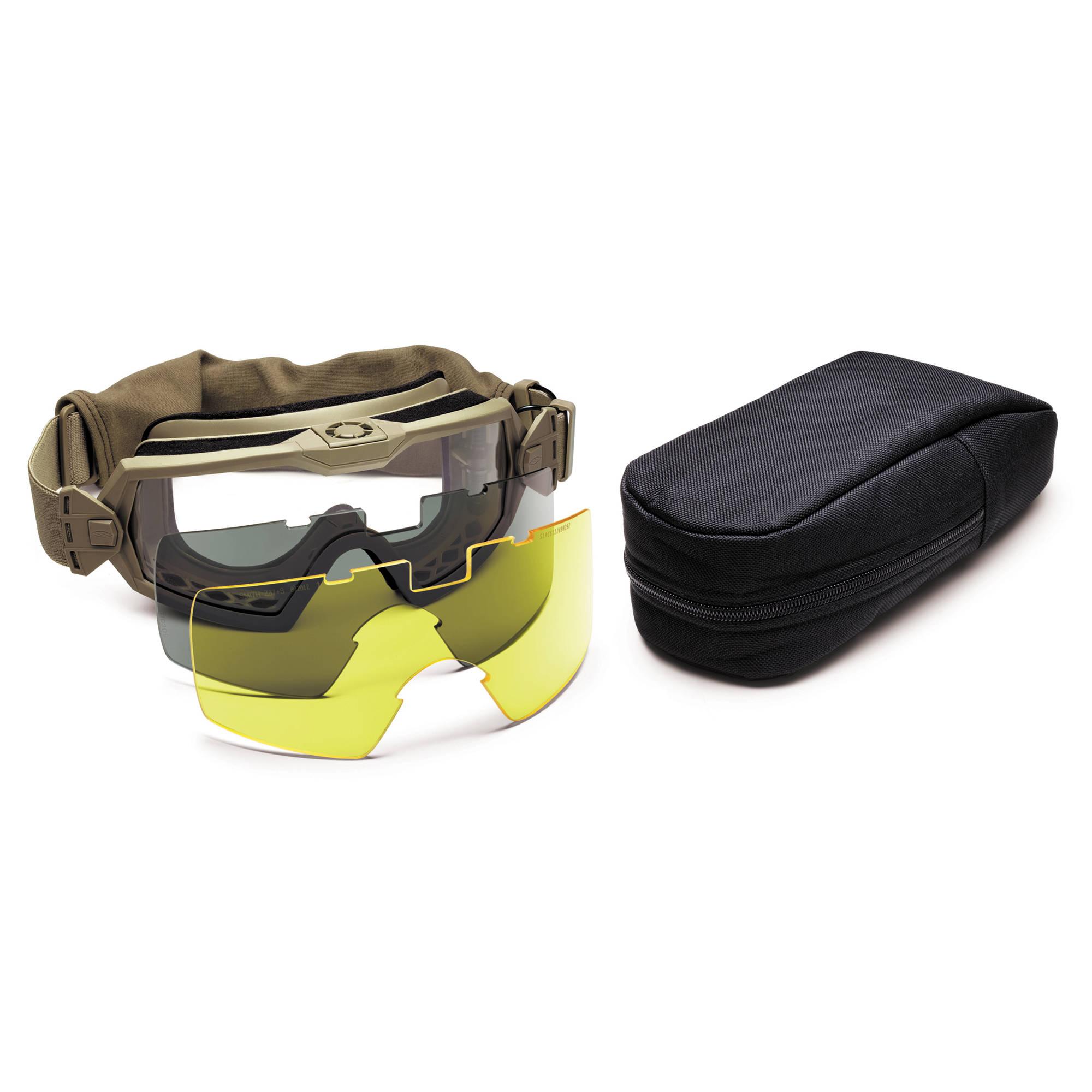 dd4752cd1b39e Smith Optics Outside the Wire (OTW) Turbo Fan Tactical Goggle - Field Kit  (Tan 499)
