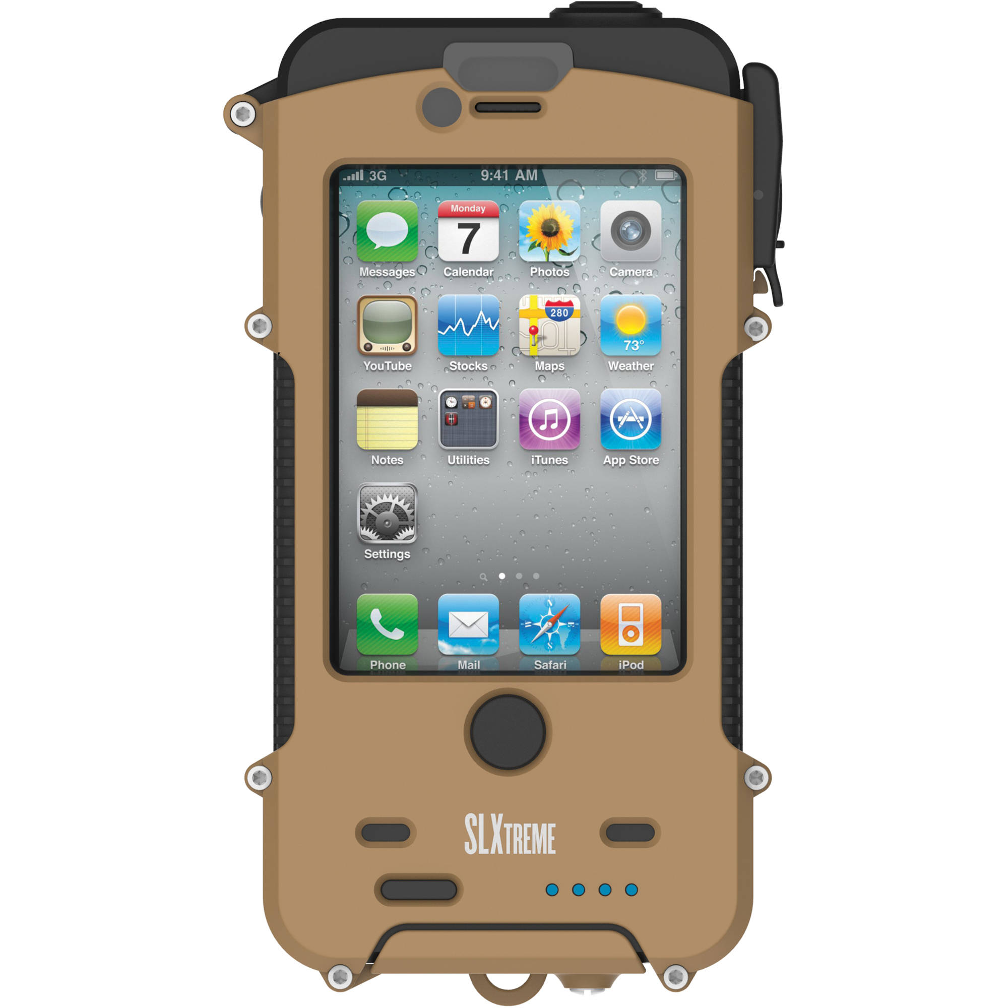 Snow Lizard SLXTREME 4 Waterproof Case for iPhone 4/4s (Coyote Tan)