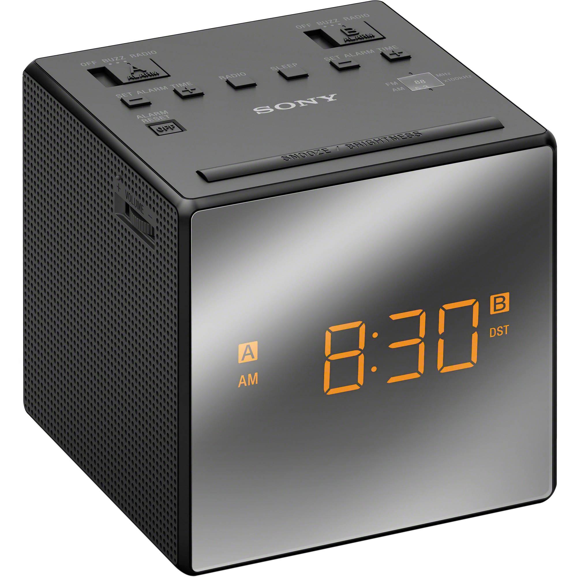 Sony Dual Alarm Clock Radio Black Icfc1tblack Bh Photo Video
