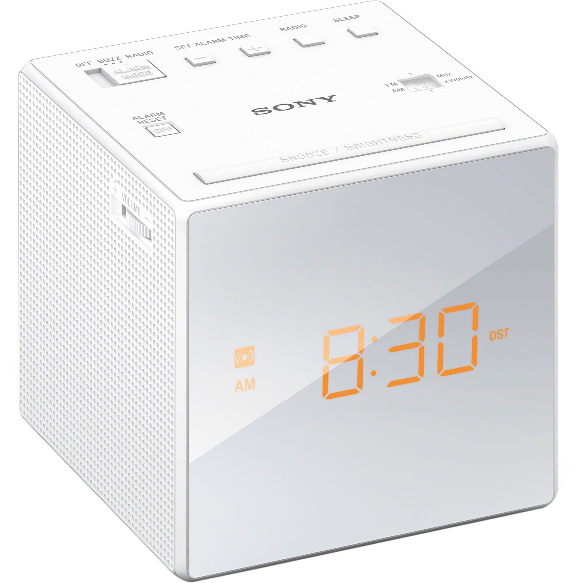 Sony Radio Alarm Clock (White) ICFC1WHITE Bu0026H Photo Video