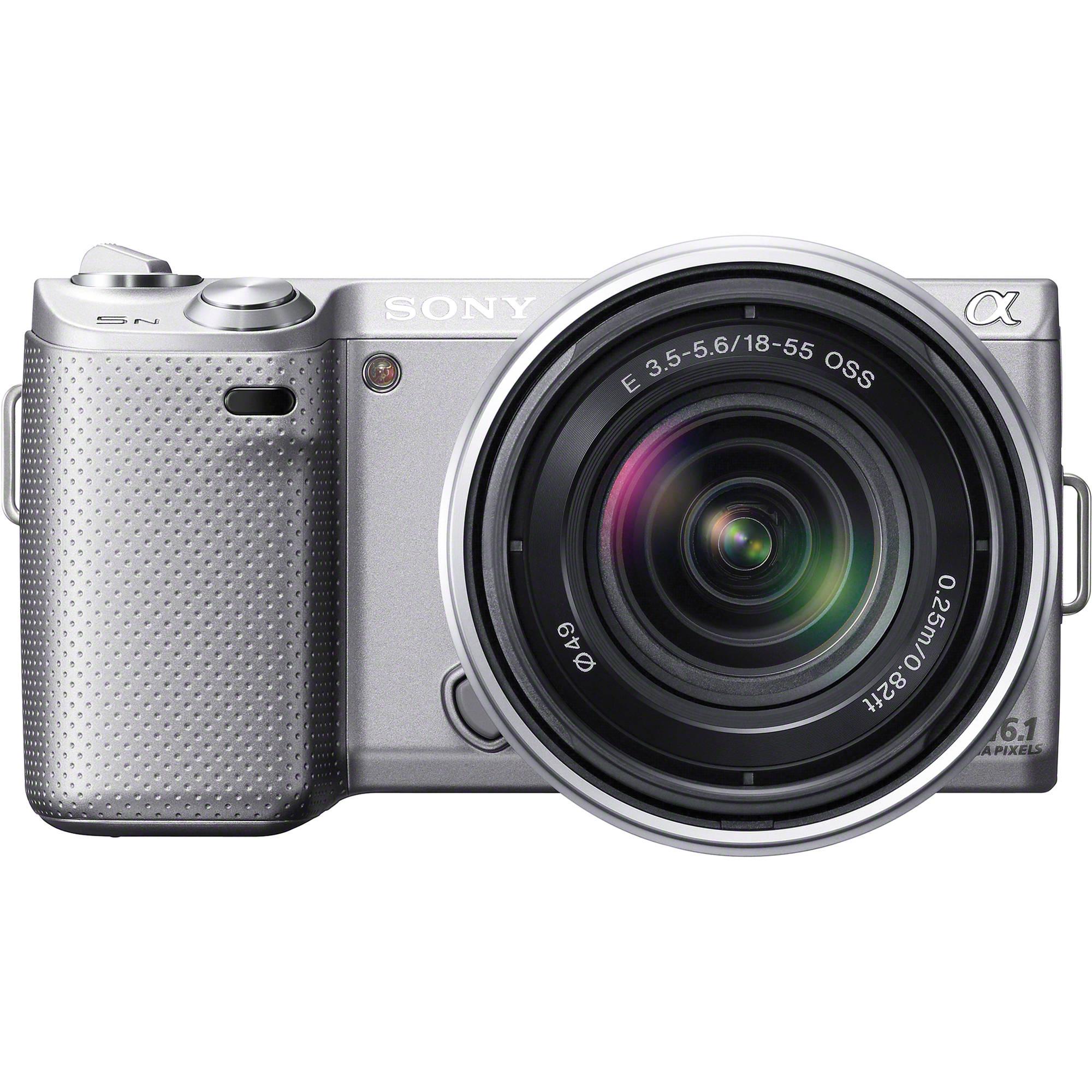 Sony Alpha NEX 5N Digital Camera With 18 55mm Lens Silver