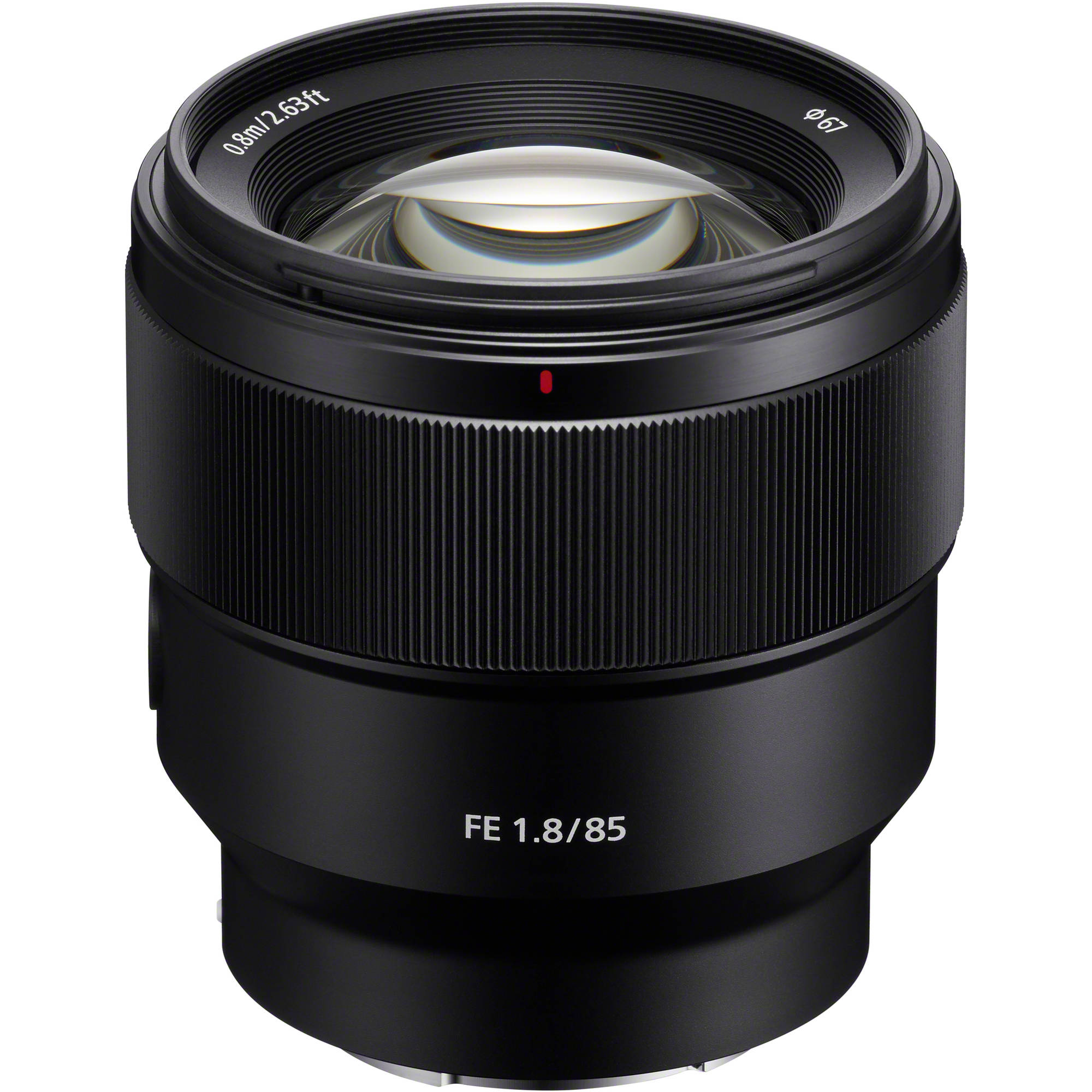 sony fe 85mm f 1 8 lens sel85f18 b h photo video. Black Bedroom Furniture Sets. Home Design Ideas