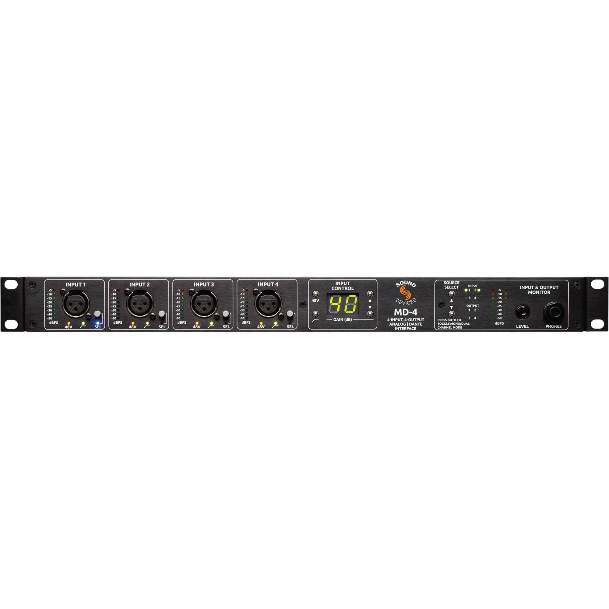 sound devices md 4 4x4 analog to dante interface md 4 b h photo. Black Bedroom Furniture Sets. Home Design Ideas
