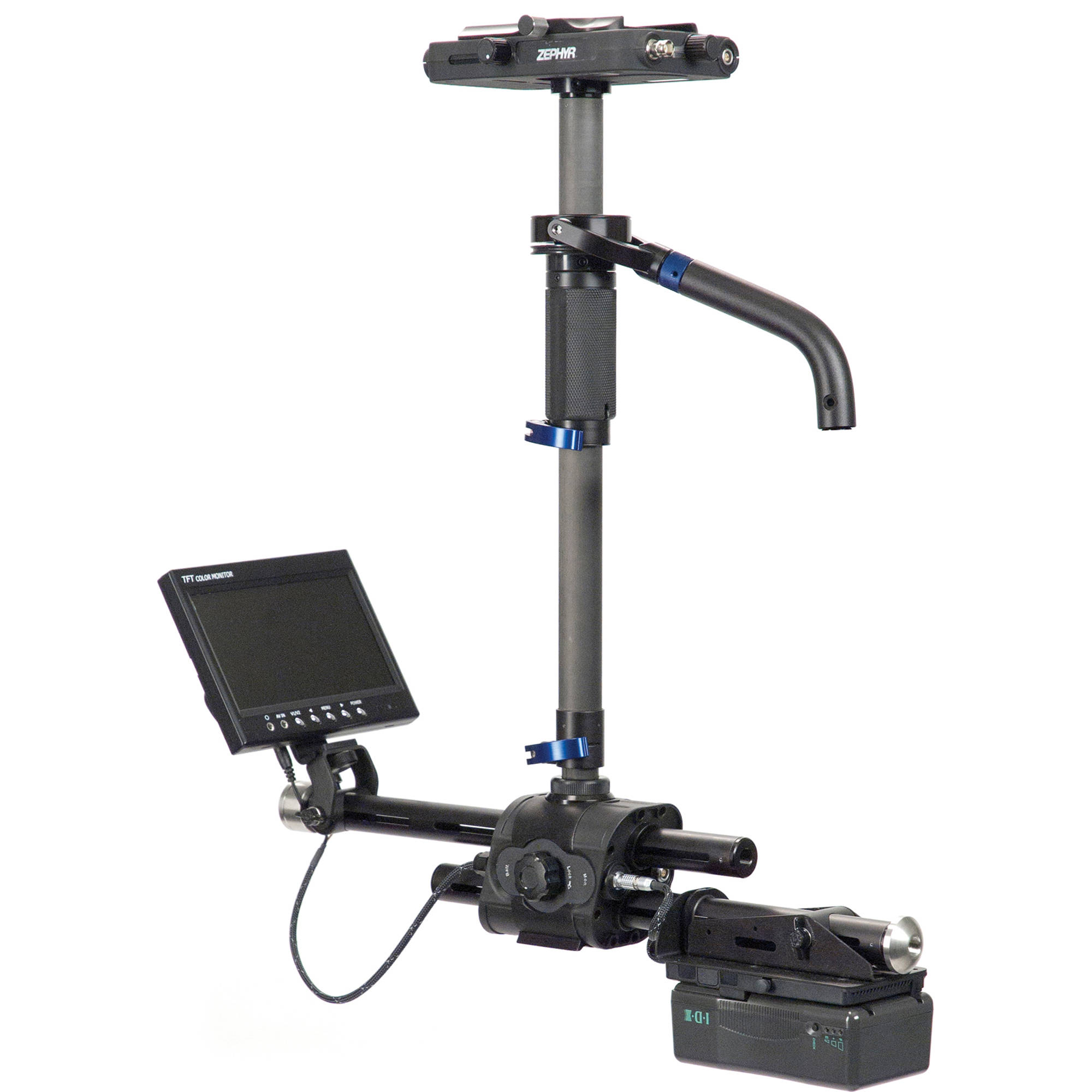 steadicam zephyr camera stabilizer with 7 hd