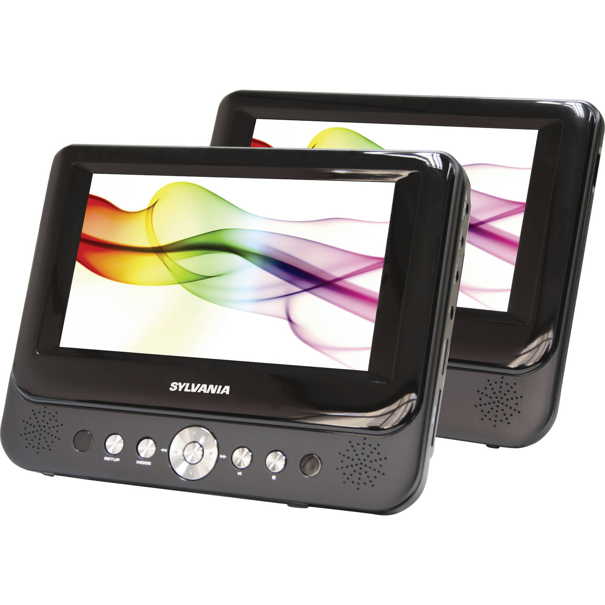 Sylvania Sdvd8737 7 Dual Screen Portable Dvd Sdvd8737a Bh