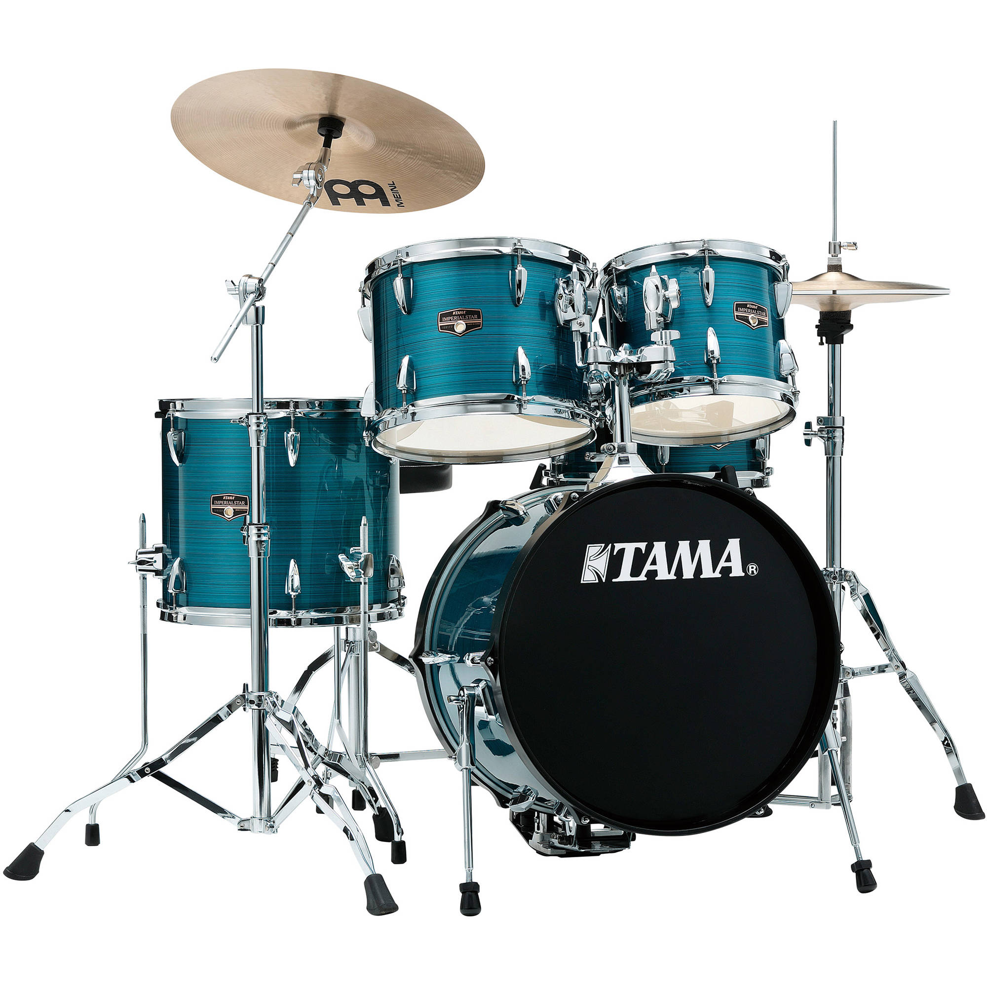 TAMA IP58NCHLB Imperialstar 5 Piece Drum Set With Cymbals 18 Bass