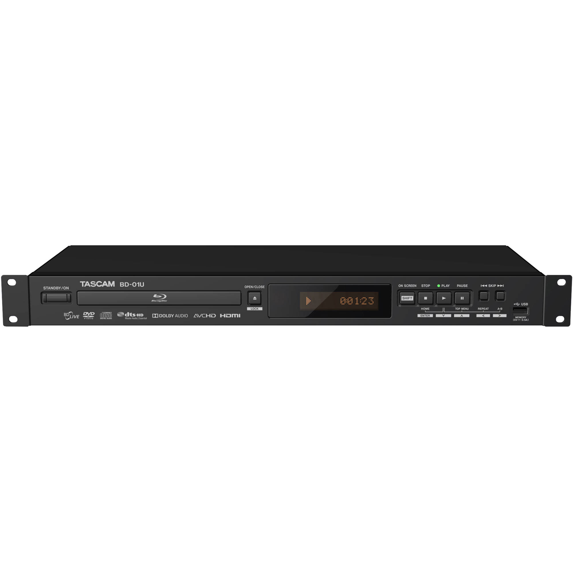 Tascam Bd 01u Rackmount Blu Ray Player