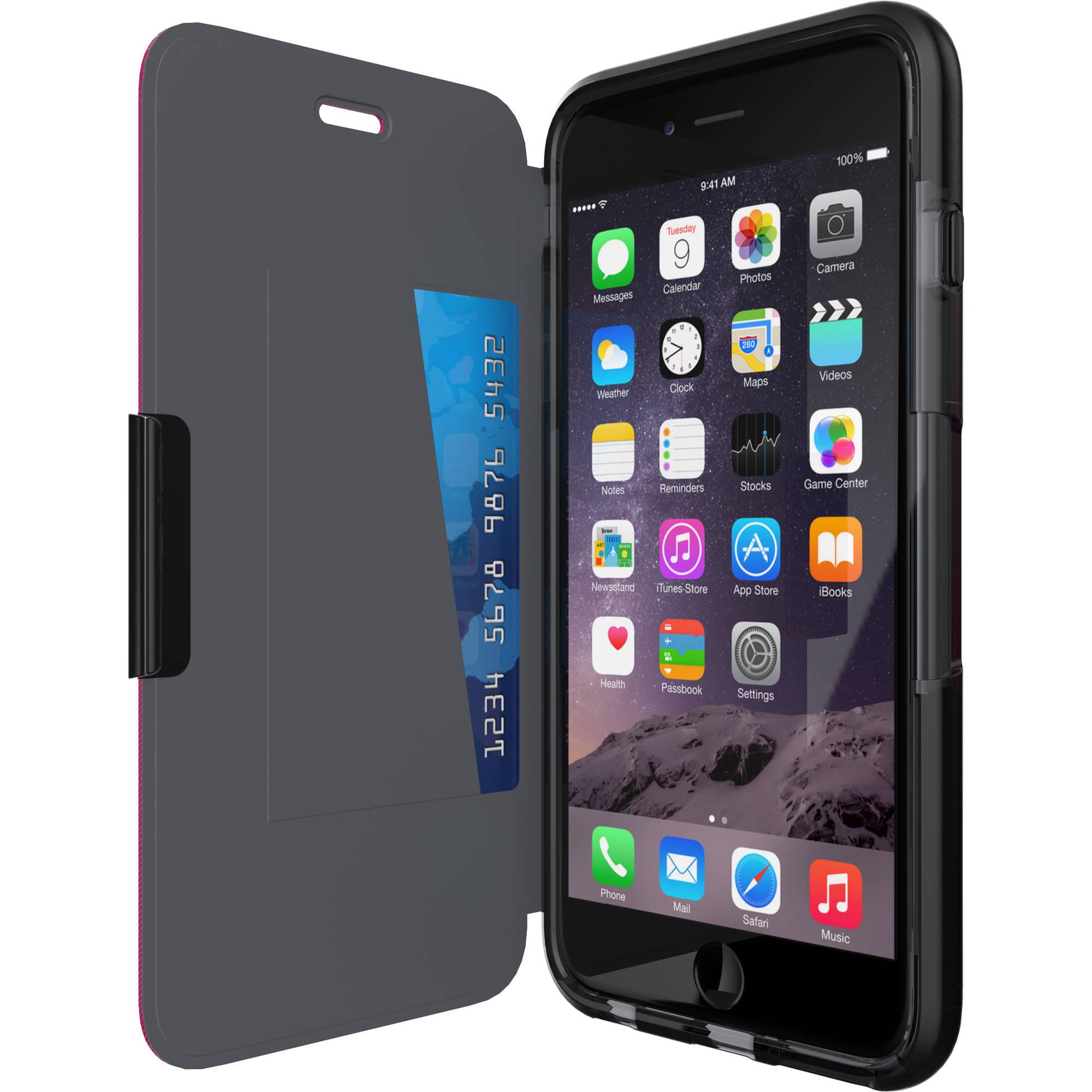 tech21 evo wallet case for iphone 6 plus black t21 5102 b h. Black Bedroom Furniture Sets. Home Design Ideas